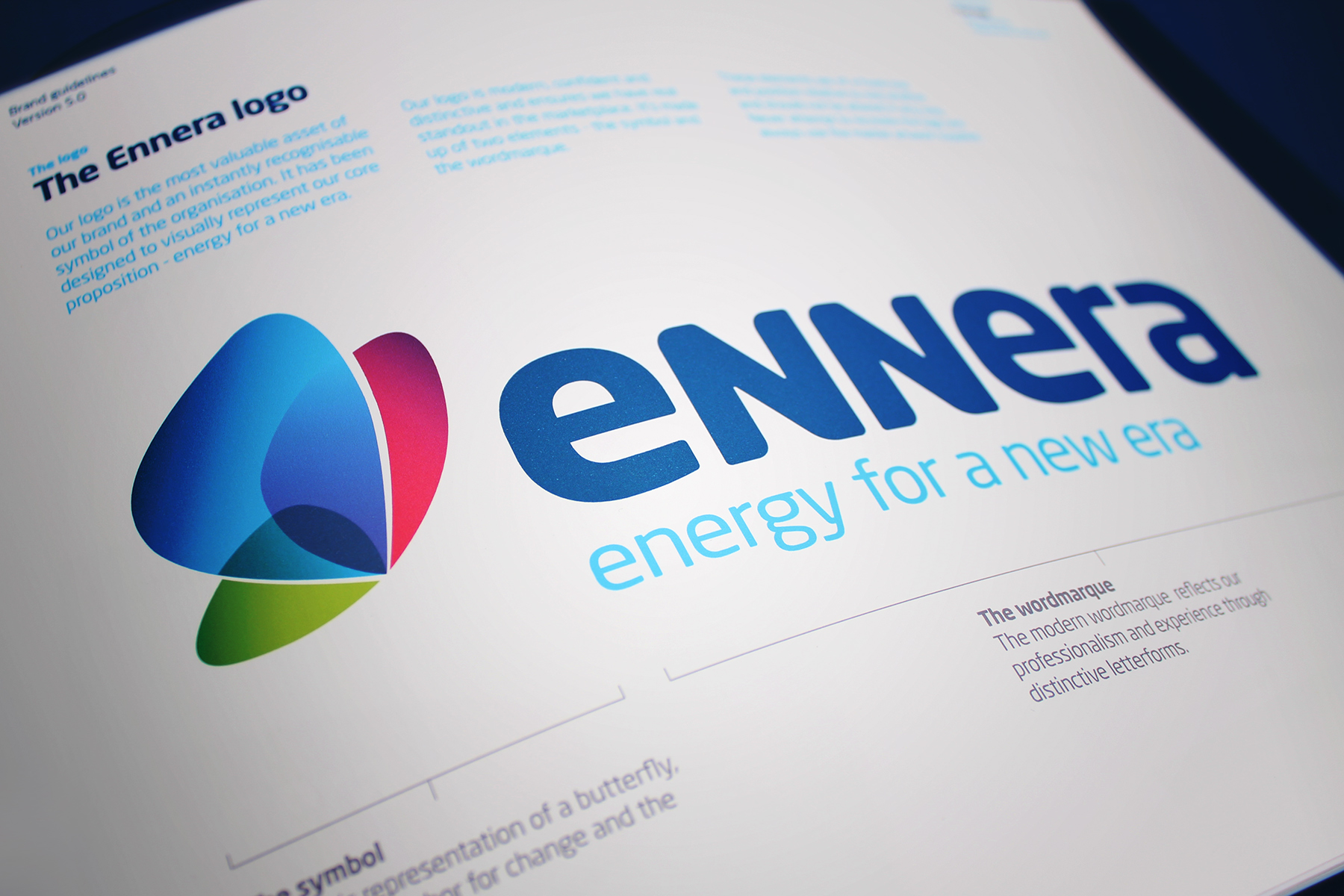 The Ennera brand mark represents a perfect balance between both an approachable and established feel.