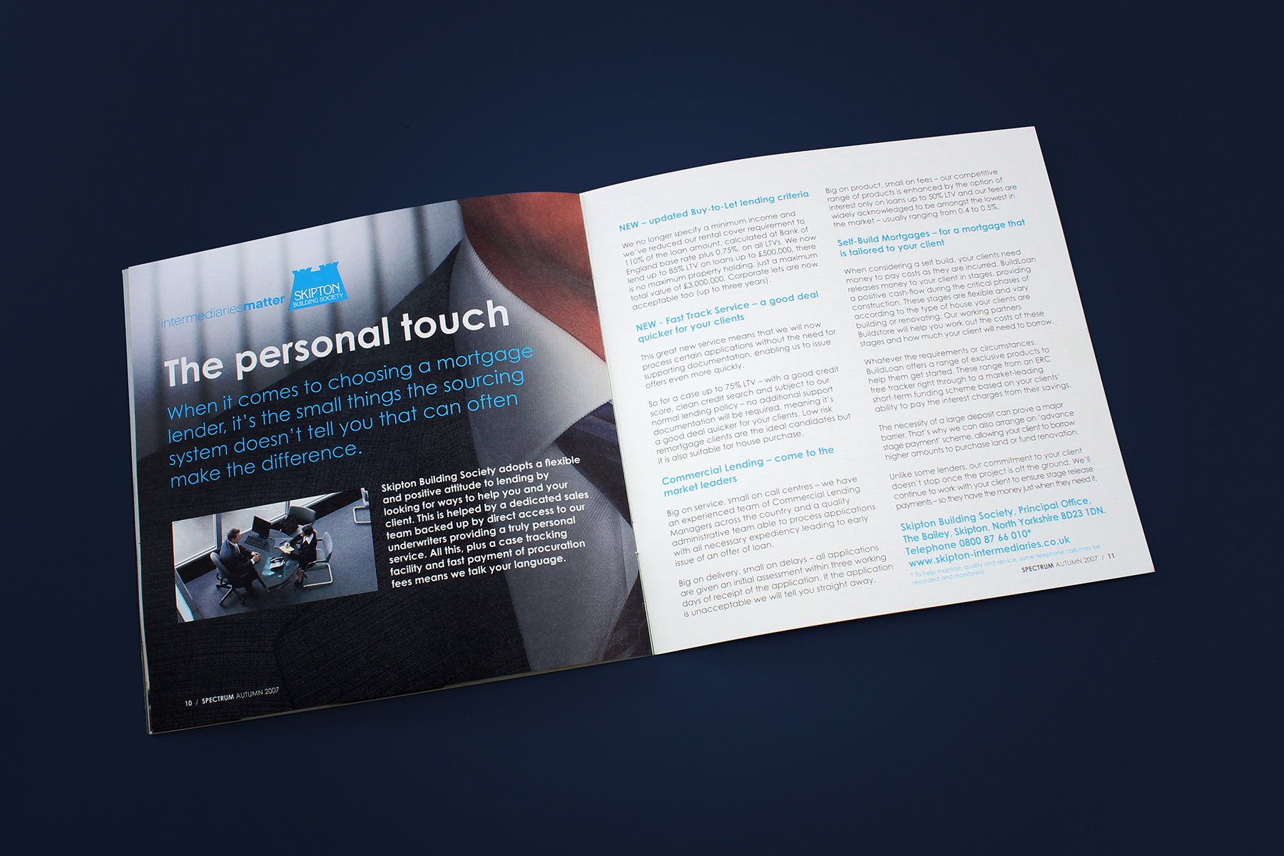 We utilised a number of typographic styles to add an editorial feel which helped the reader delve in to the information at their own pace.