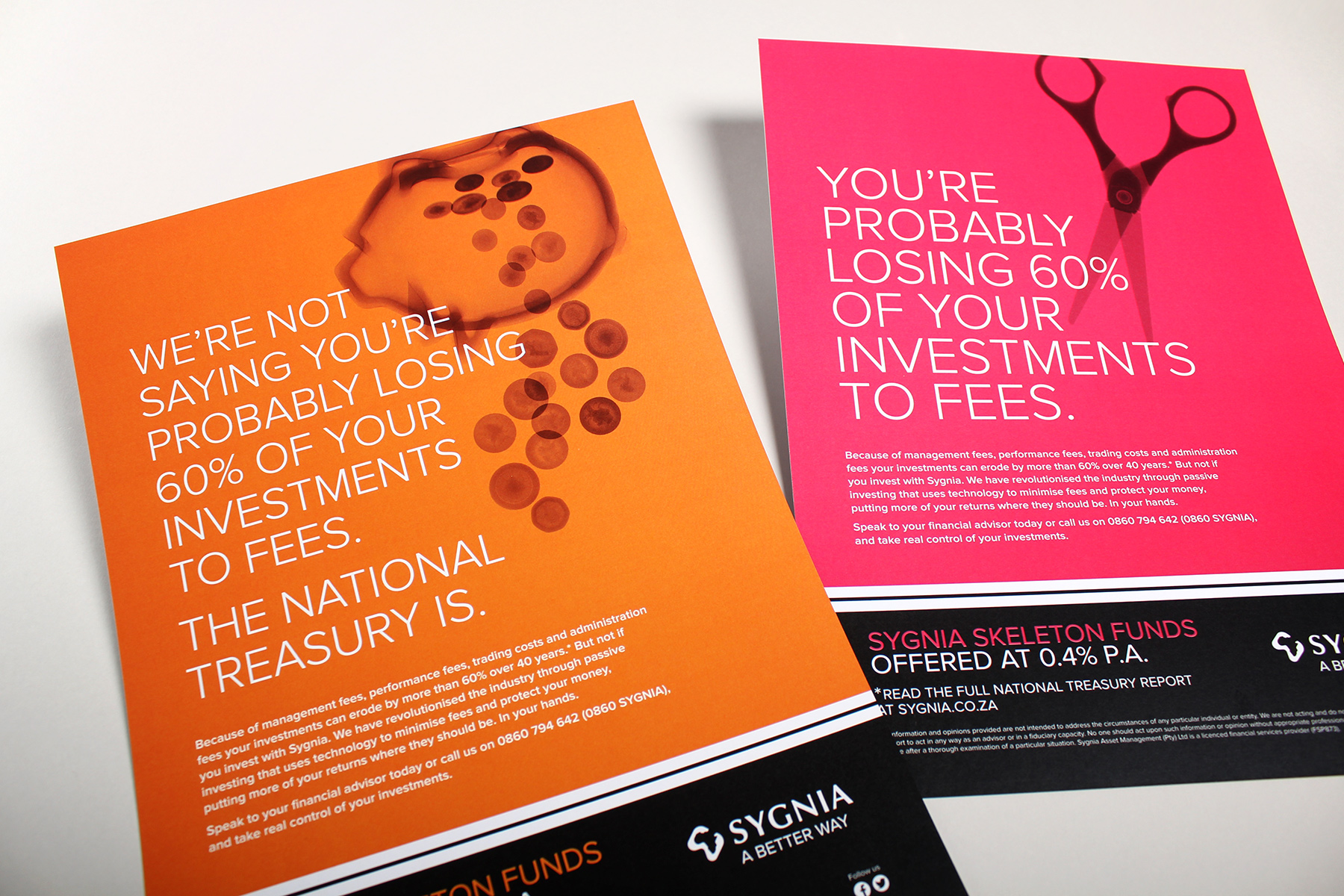 The corporate identity utilises the anchor black and white branding combined with bright acidic campaign colours.