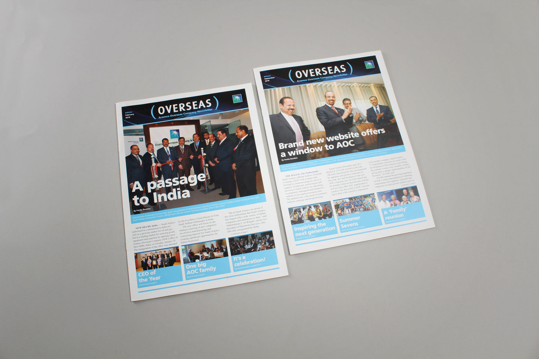 The publication capitalises on the large volume of imagery produced by the employees and the efficient PR department.