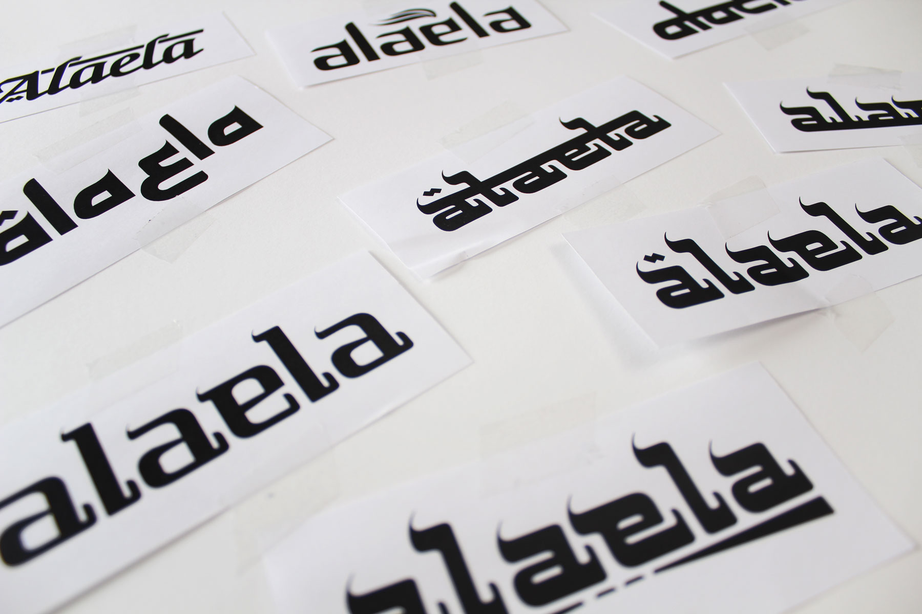 The Alaela masthead has been carefully crafted, to capture both a western and eastern feel.