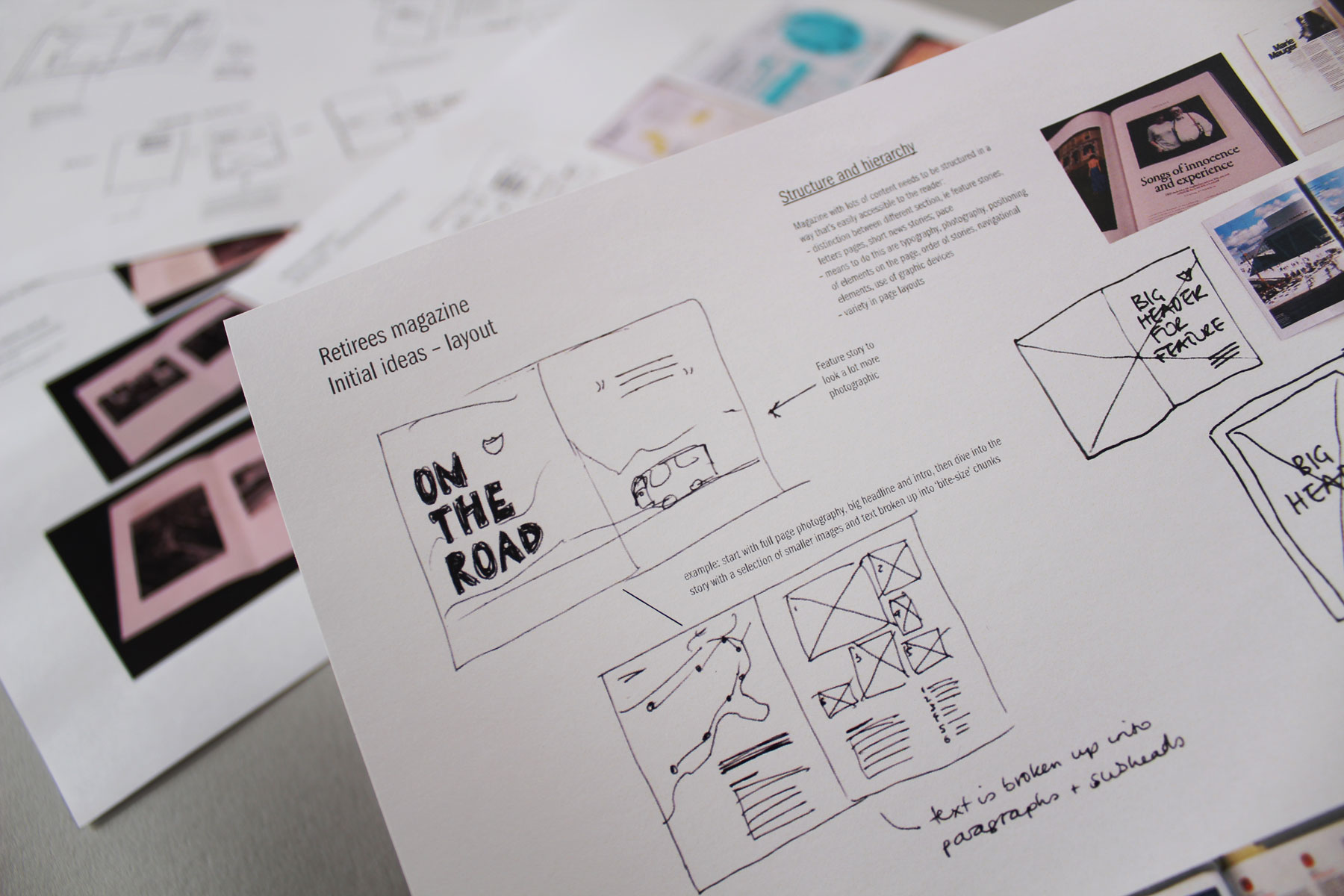 Our creative team creates ideas around content flow and context.