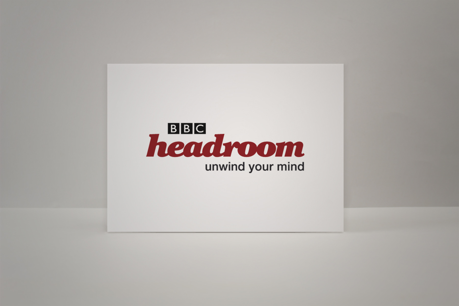 The headroom brand is rendered in a semi formal cut serif italic, which is accessible yet somewhat respected.