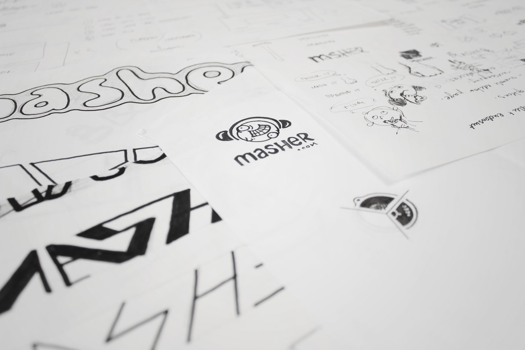 We wanted the brand to have a memorable type treatment, so we experimented with both hand cut and machined type.