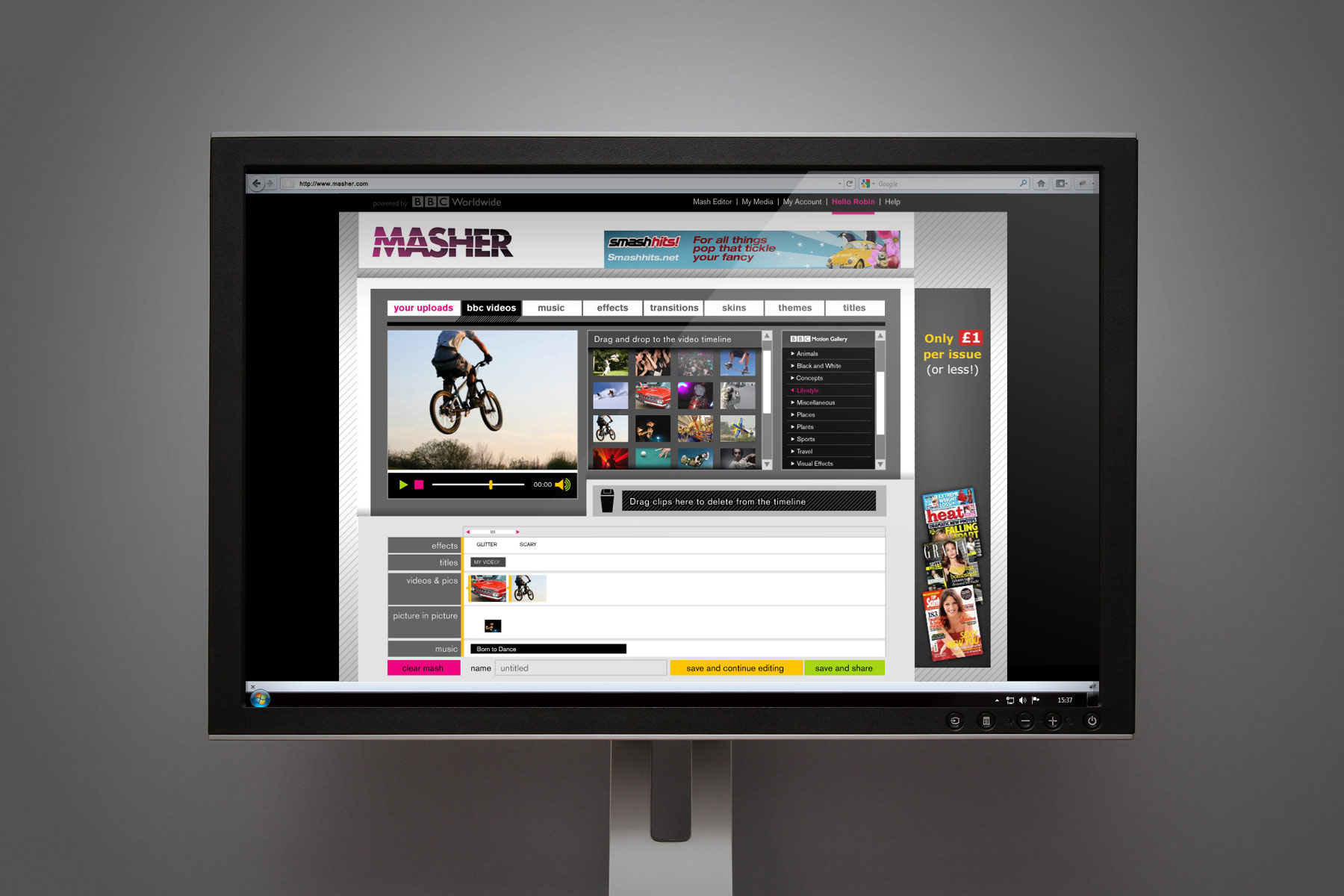 We also advised on the design of the software interface, creating a unique yet functional feel.