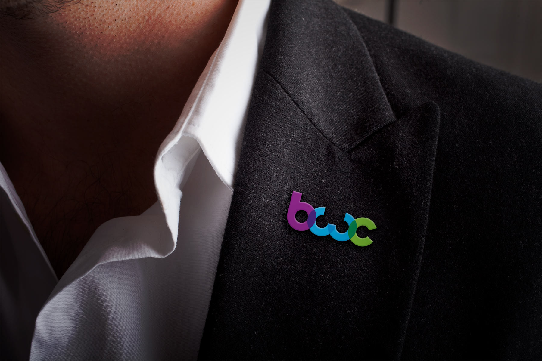 The simple, bright brand icon works well in special applications - Such as die cut materials.
