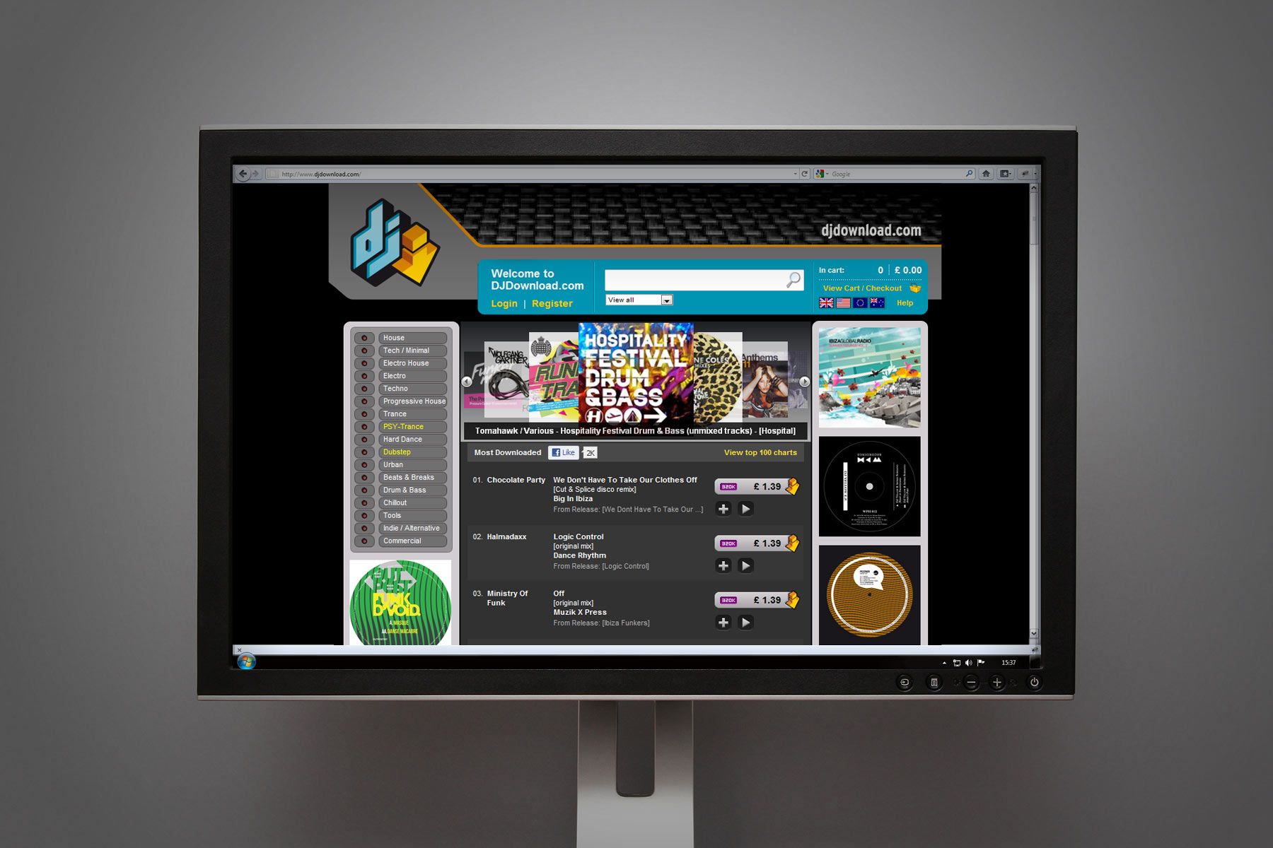 We worked together with the DJDownload team, assisting them on creating a unique online environment, inspired by rack mounted musical kit.