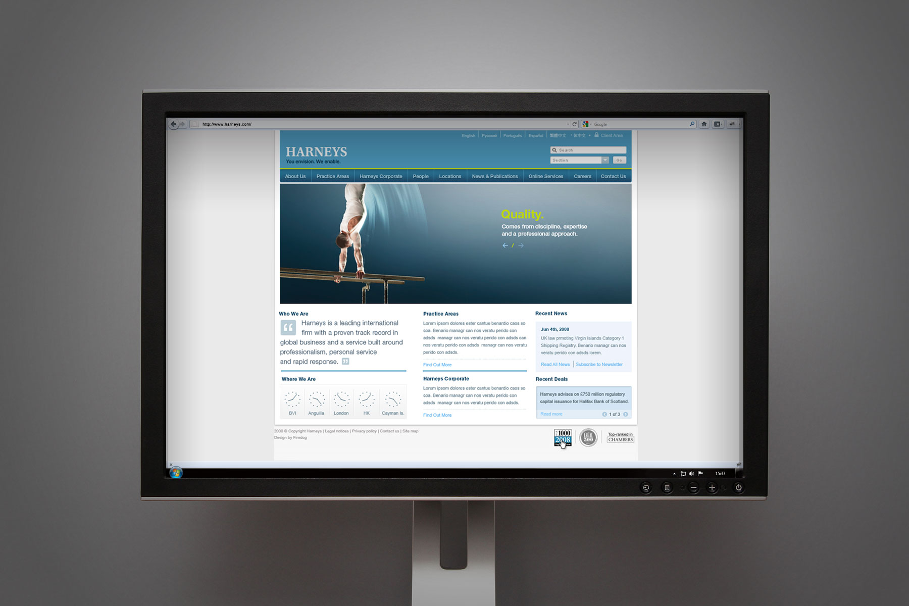 The brand application to web continued the brand communication with the key message delivered across the homepage.