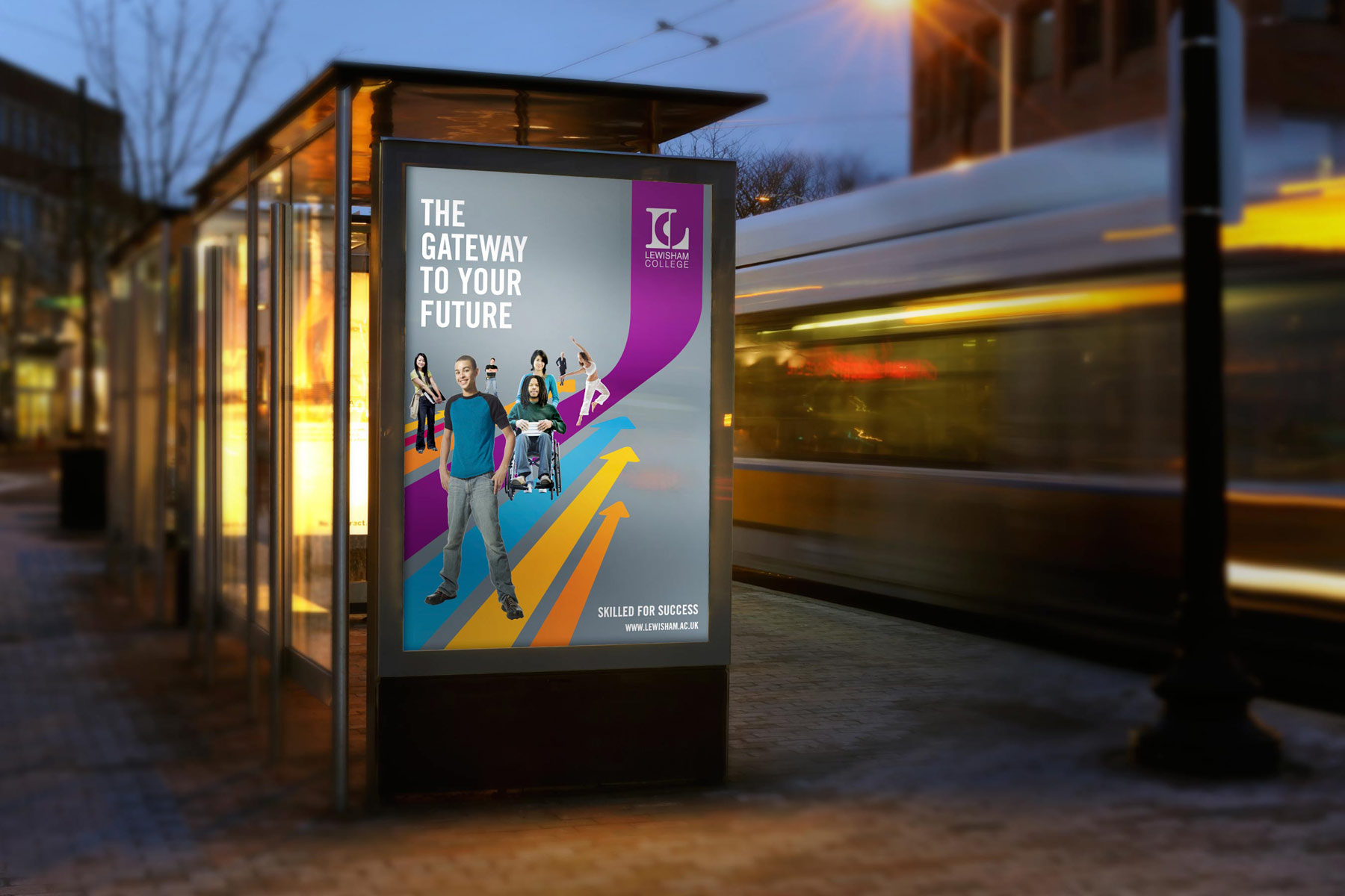 With South East London being a bit grey and urban, the identity looked to create instant standout and awareness.