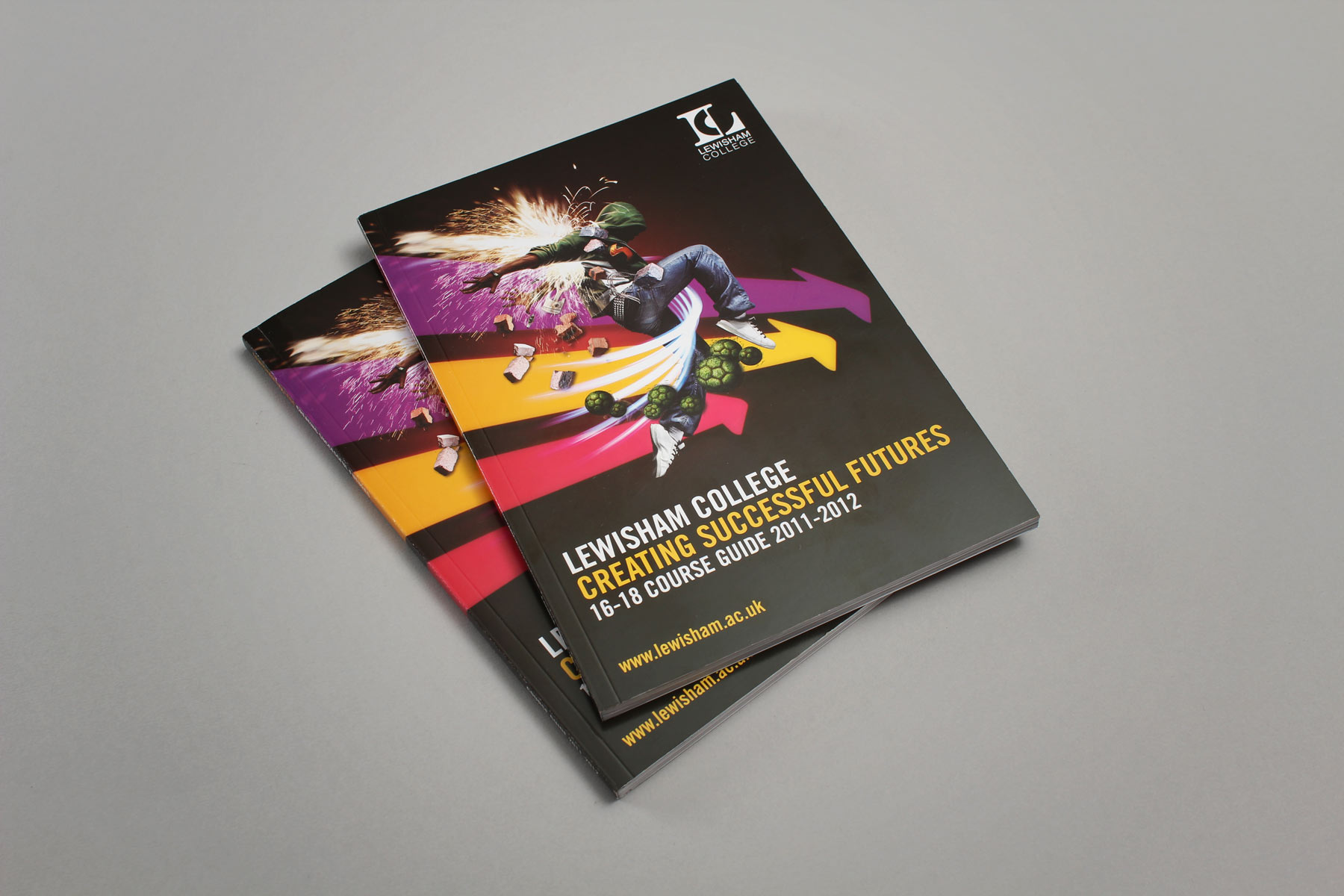 The course guides, whilst containing a different look year on year, all carry the same Lewisham brand values.