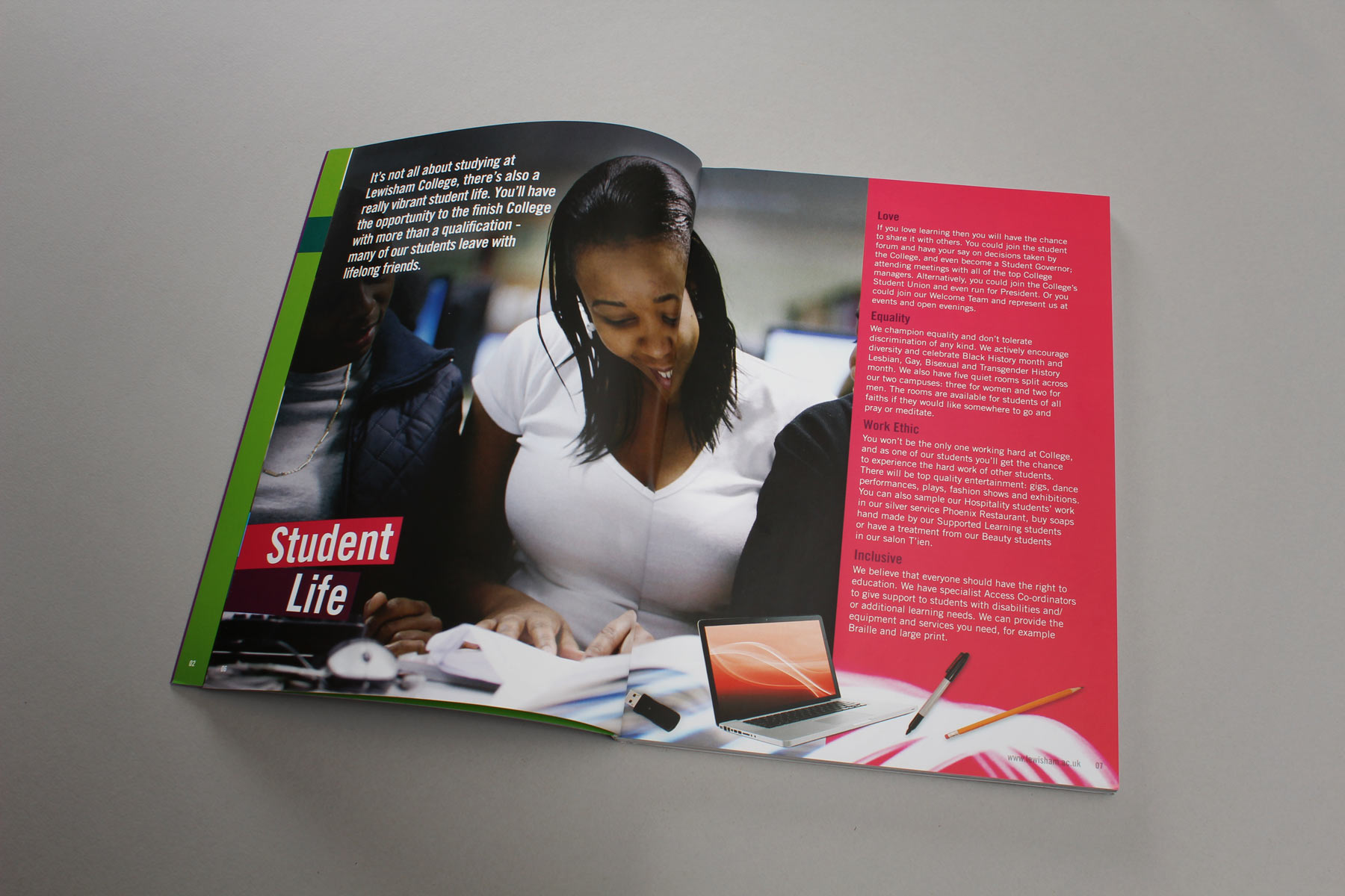 We worked with the client team to carefully select and utilise confident and appealing imagery, always focussed on the student.