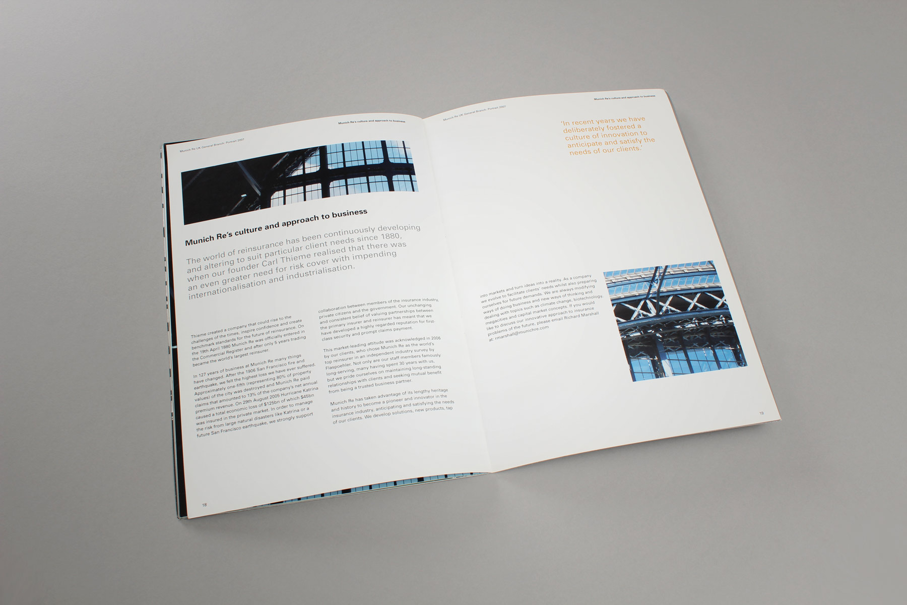 The design concept also neatly dovetailed into the formal publication guidelines that we were directed to work within.