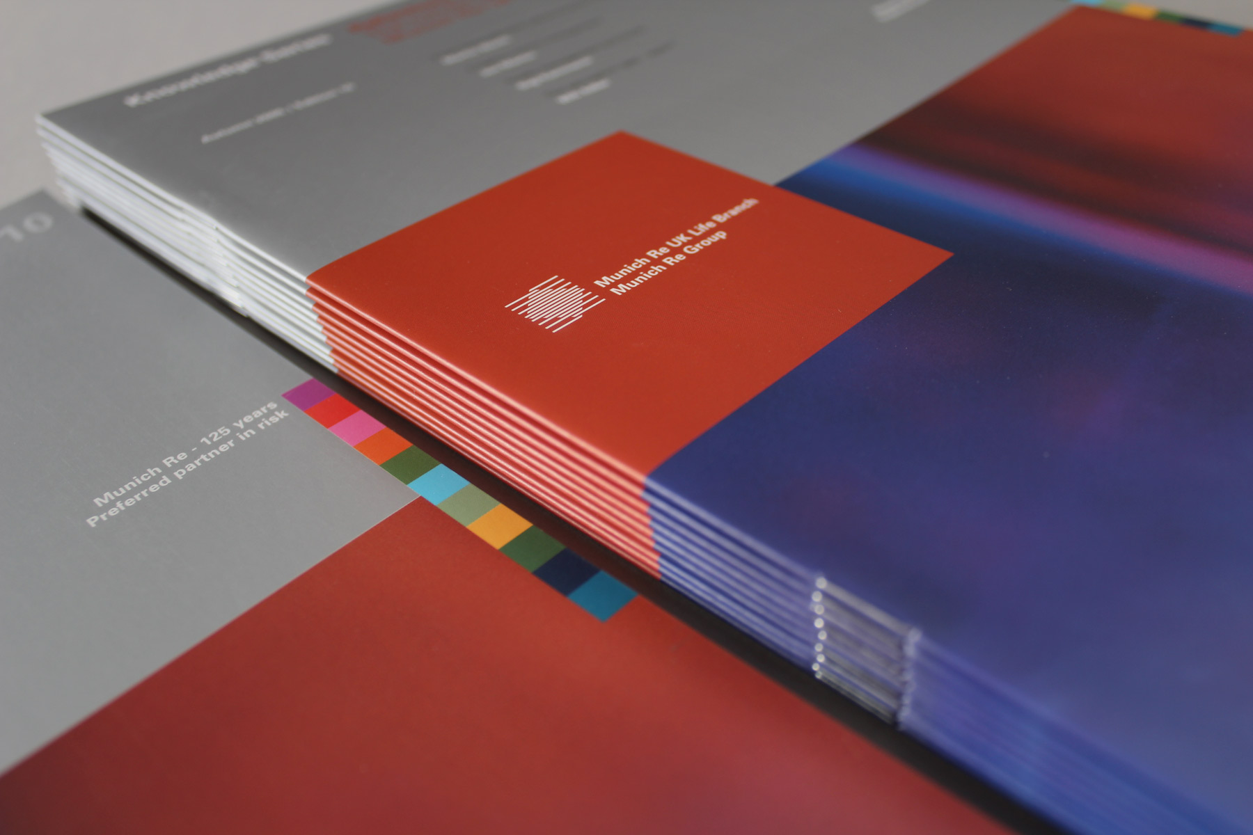 We used matt silver and bright imagery to convey a publication both contemporary and controlled.