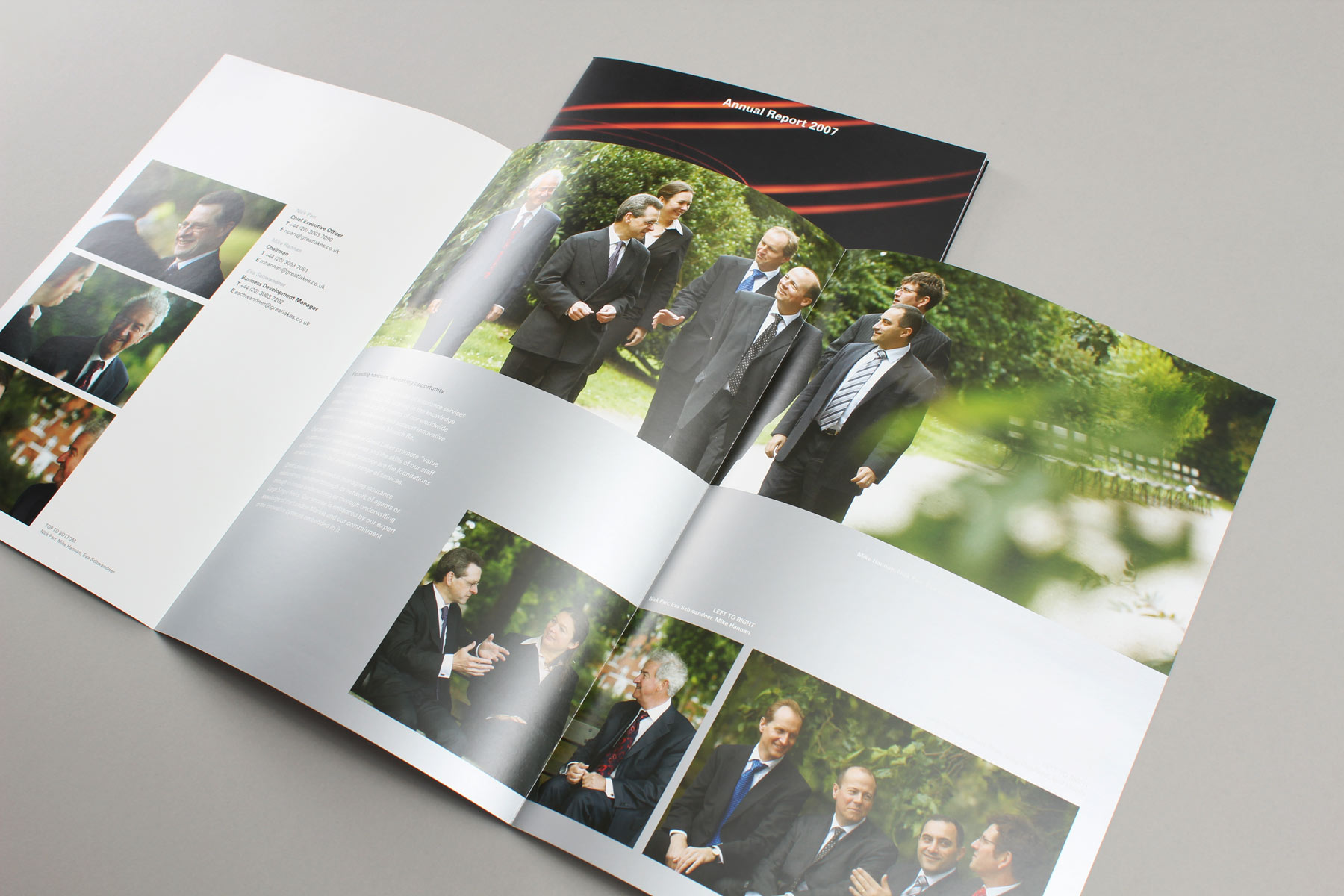 We wanted to create a lighter and more approachable image feel for the staff so we shot the subjects in Battersea Park.