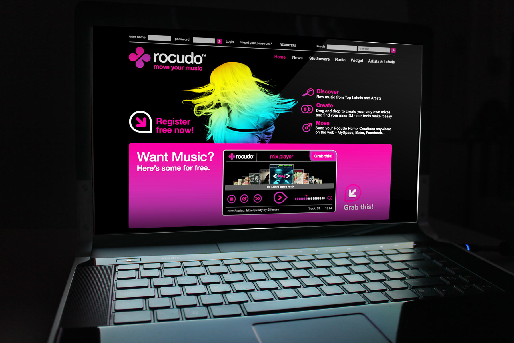 For the web front end, we developed a glossy look and feel that suits the aesthetic of the target market.