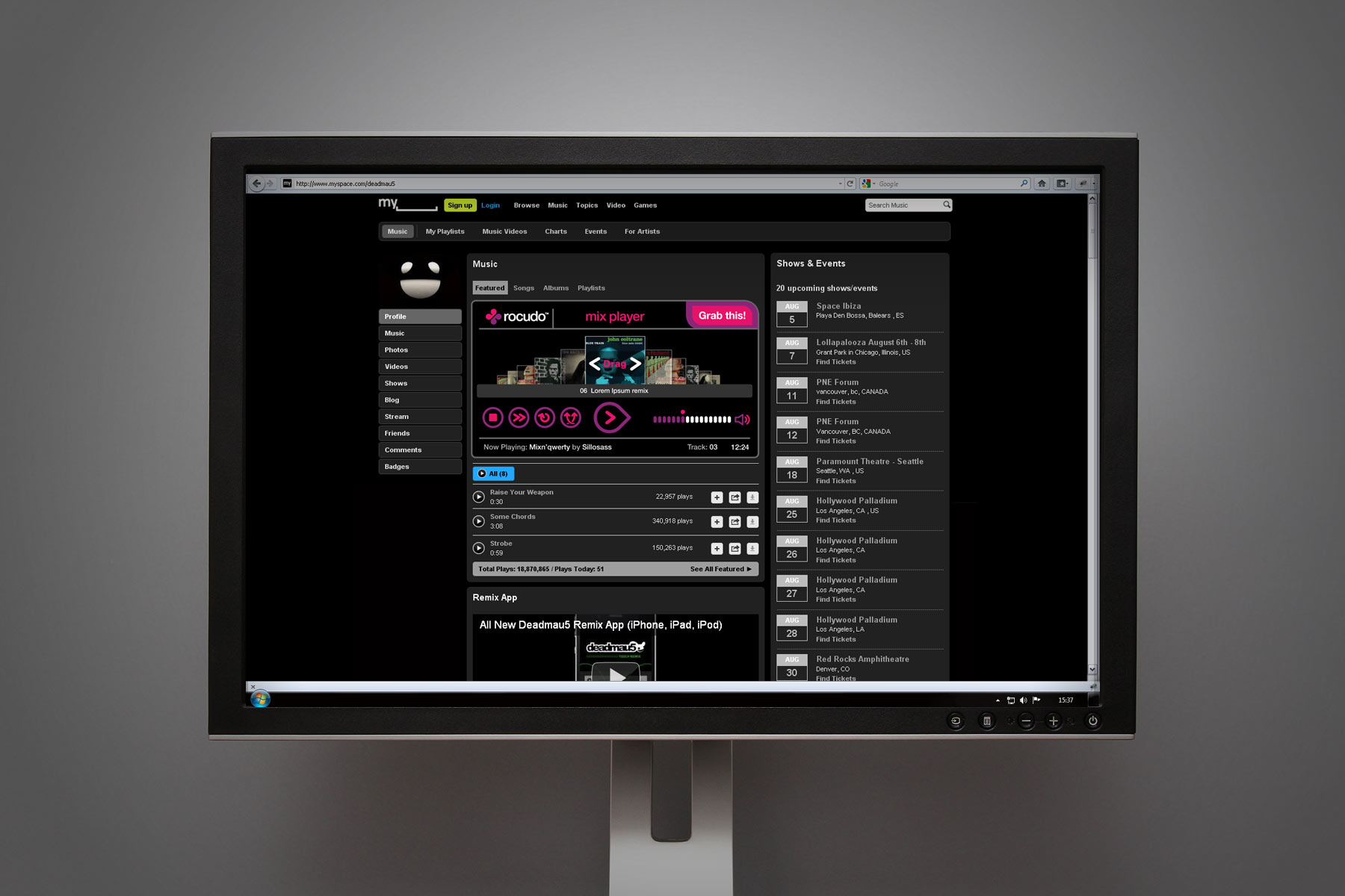 A key deliverable was the design of a series of widgets created to integrate with leading social networks.