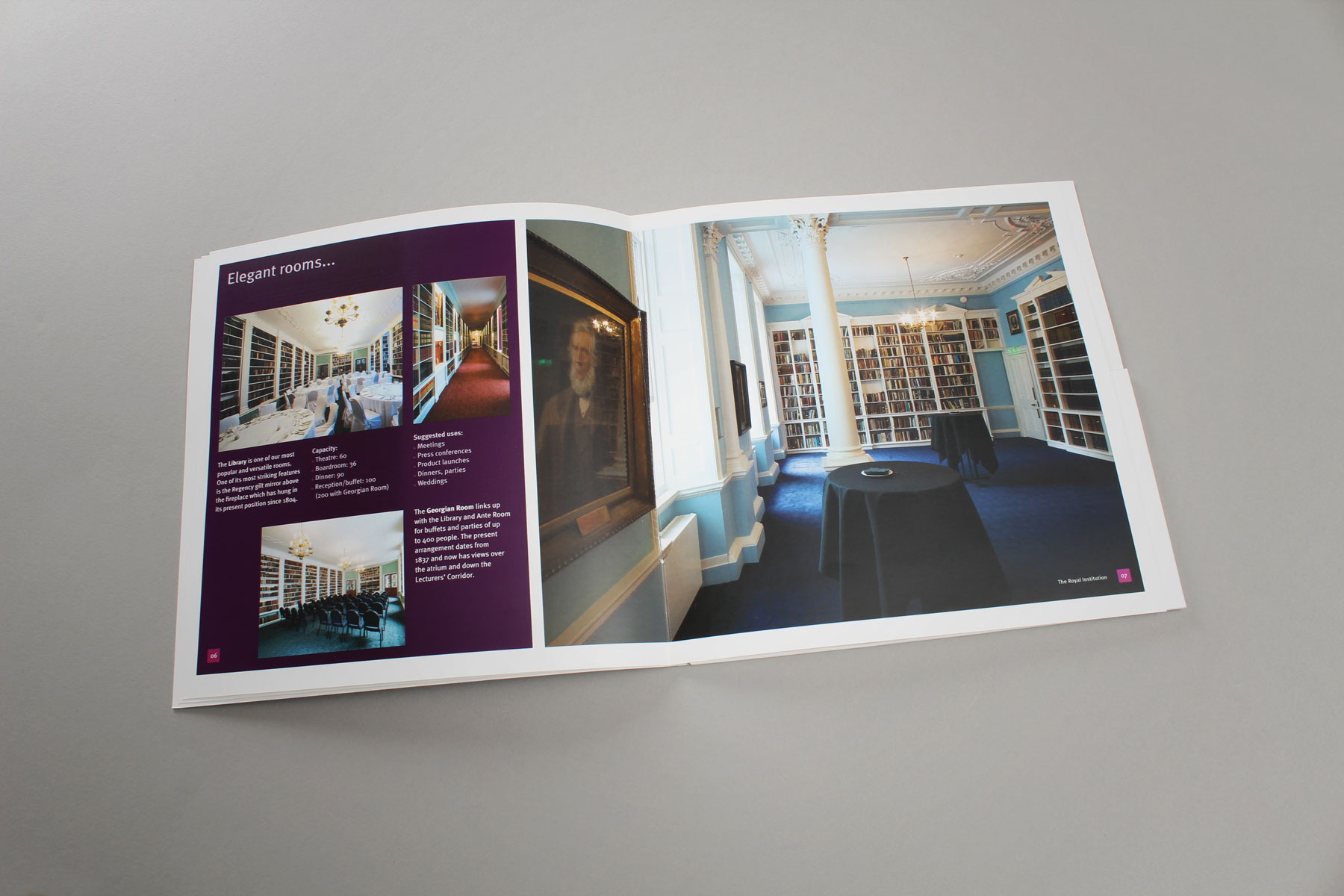 The communications were geared to raising awareness of the fantastic spaces within the institution.