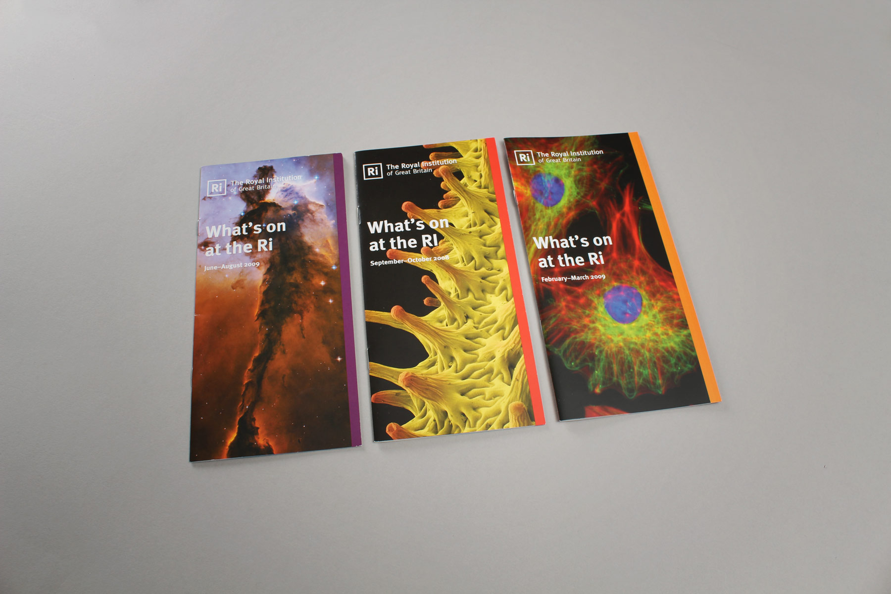 We designed the events publications and then enabled the client to produce repeat editions using a master template.