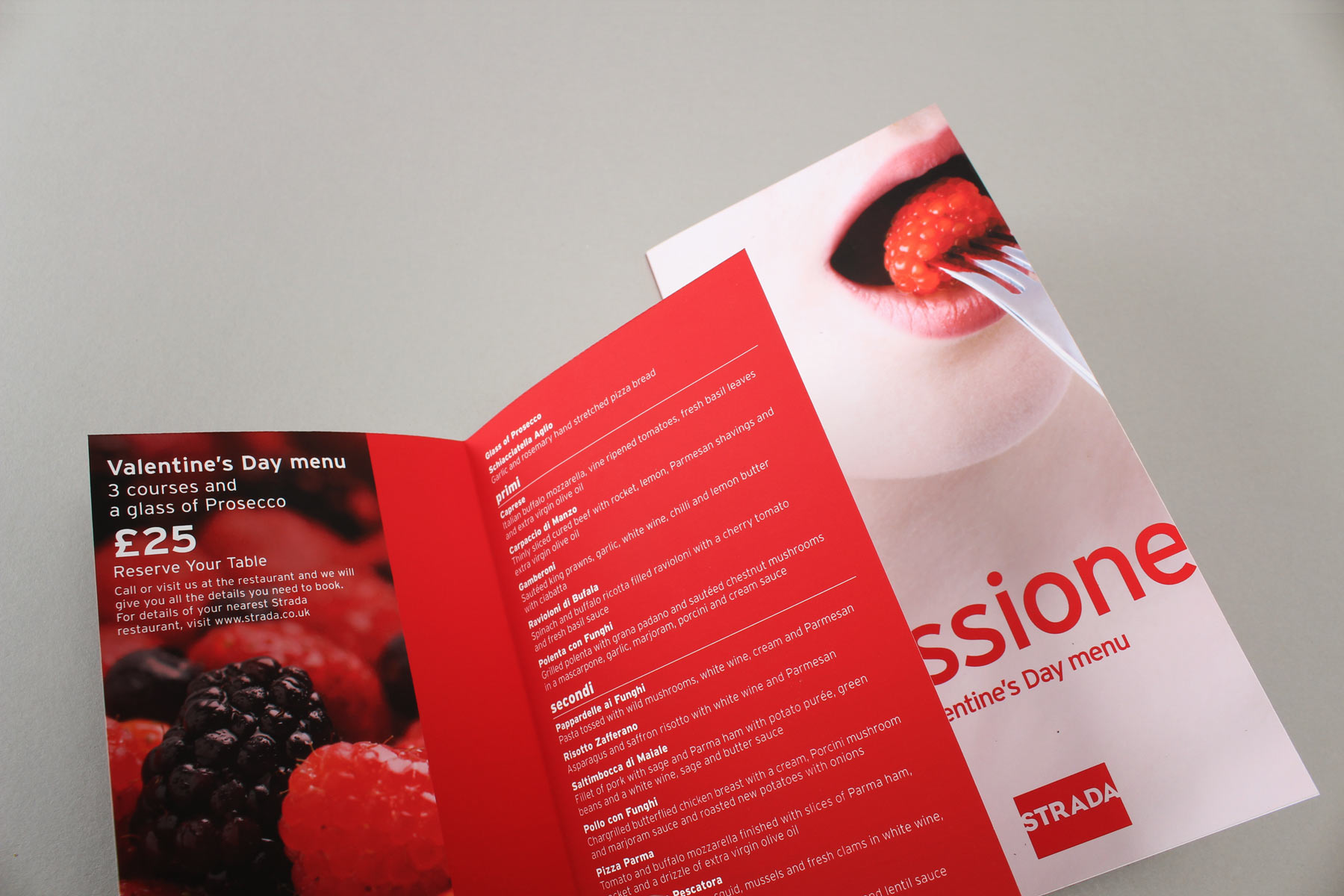 We supported the lead image with luscious fruit imagery, for an erotic and classy feel.
