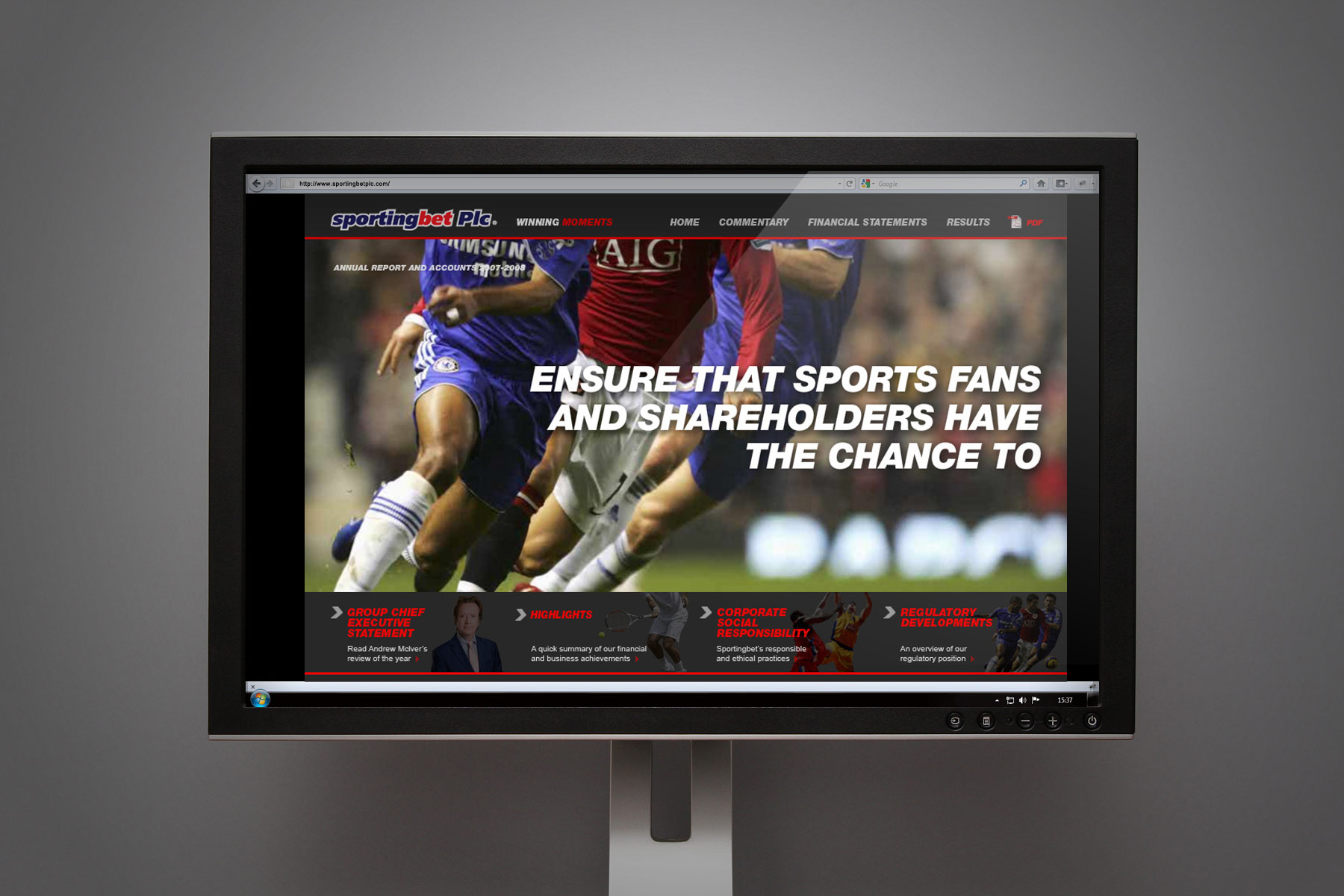 We used the combination of key statements along powerful sporting imagery.