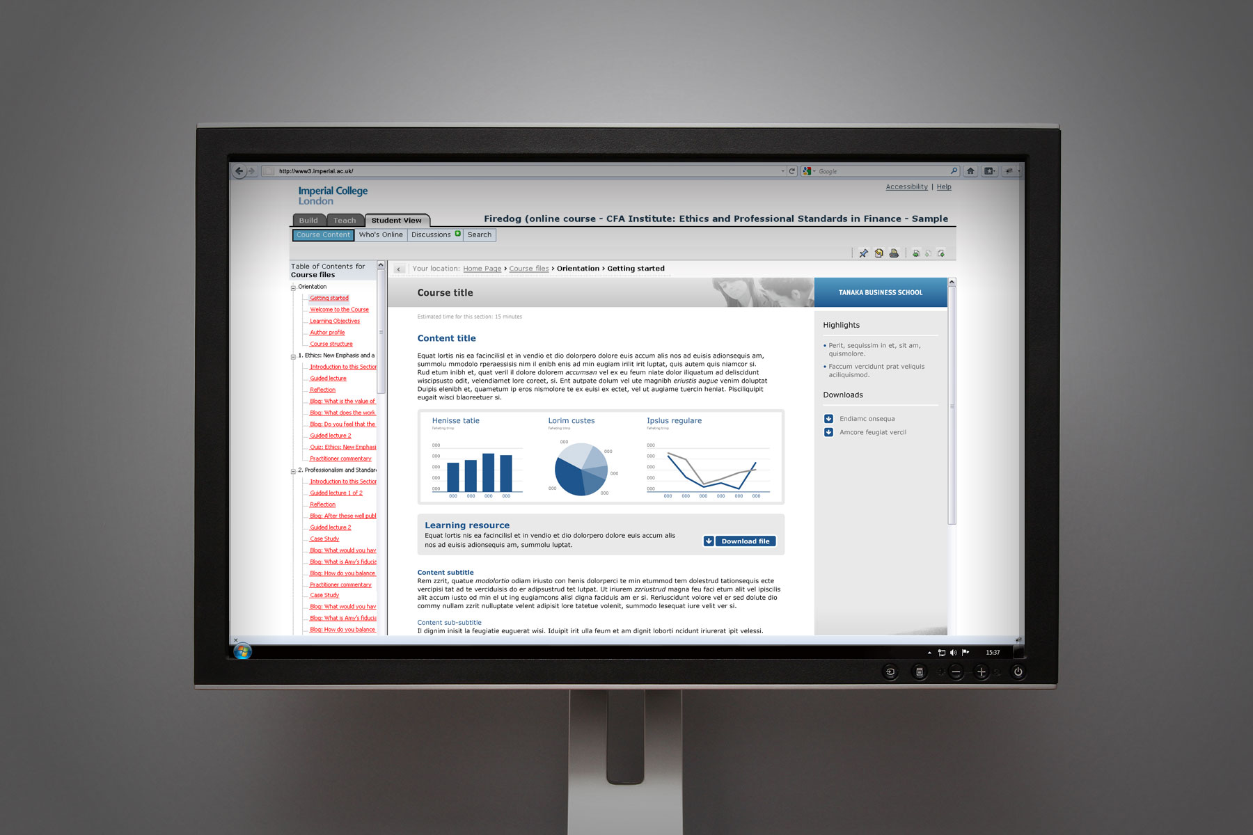 We created guidelines for the design of charts and graphs, showing best practice for the display of information.