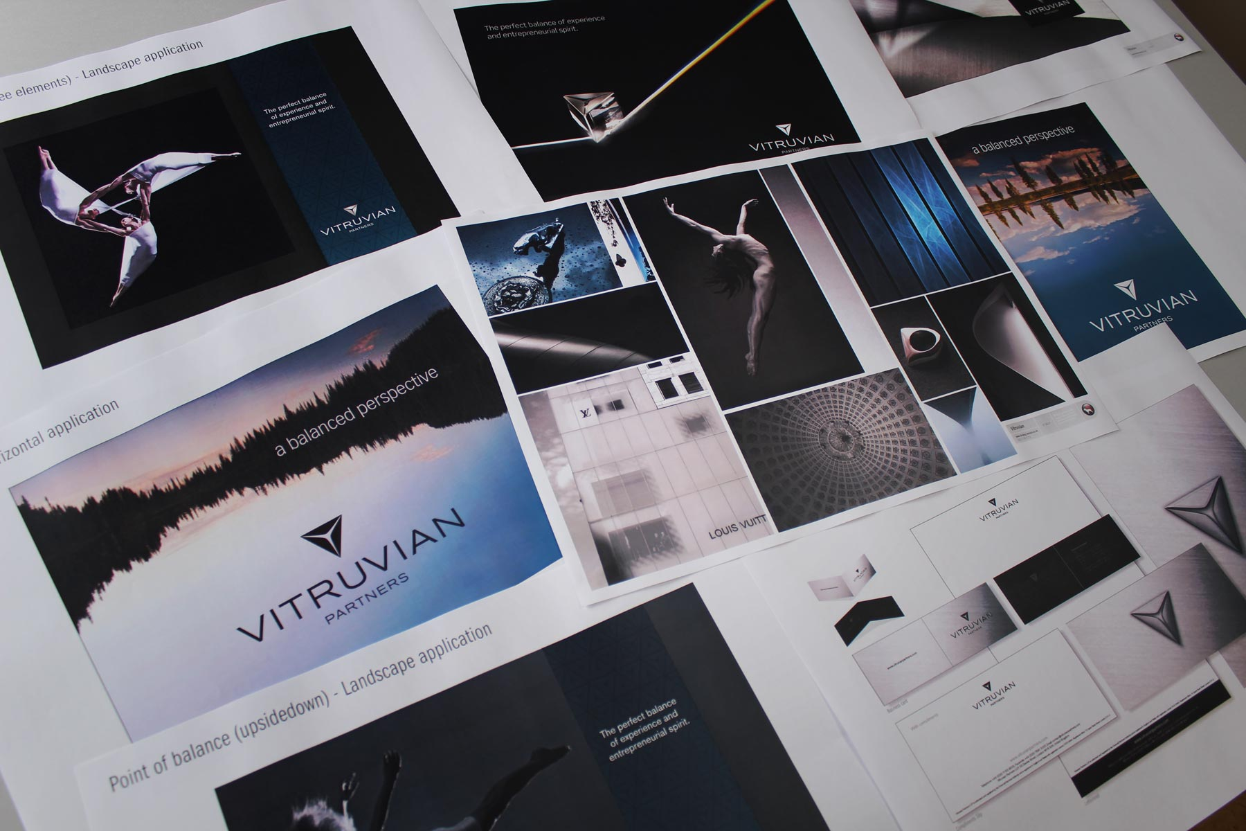Early on, we struck upon the idea of a balanced perspective, a key business value. The development of the brand concept played with the idea of visual balance and how we could relate it back to this proposition.