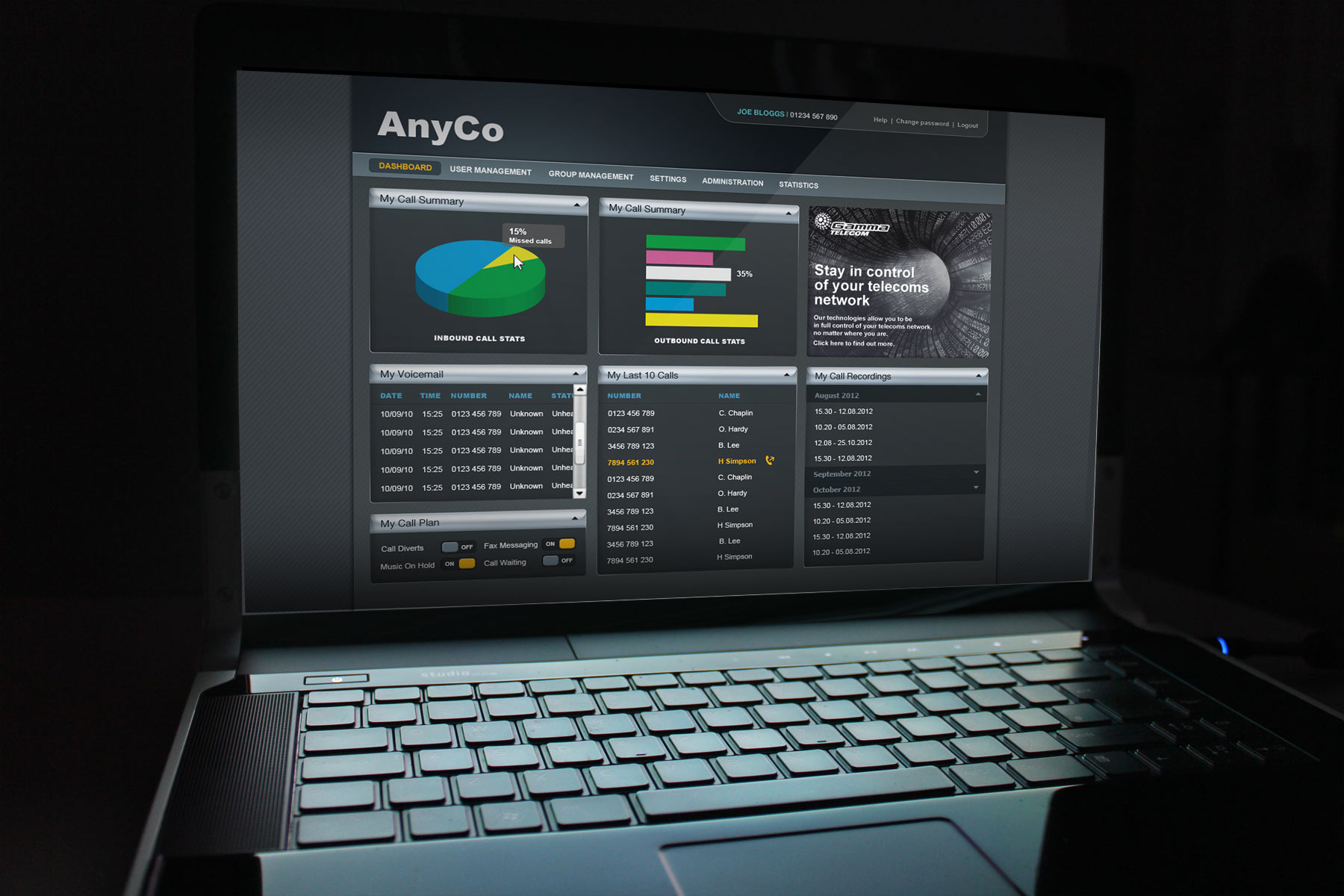 Firedog was responsible for the design and visual interface logic for a number of key dashboard and content screens.