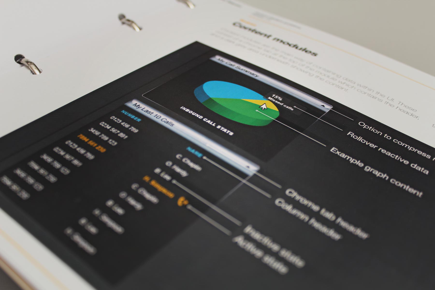 We created guidelines for charts and graphs which are dynamically built on the fly using jquery.