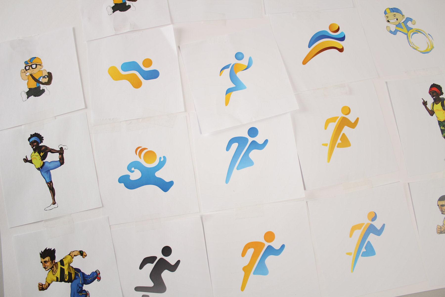 The icon design explored various directions in tone and spirit, from casual to more contemporary.