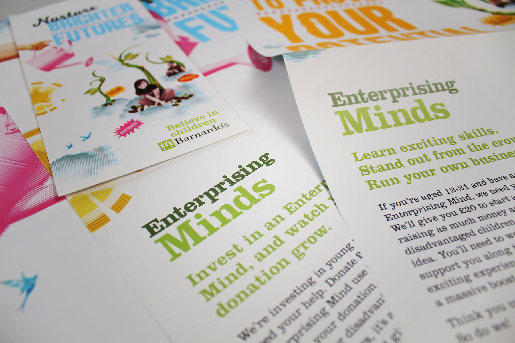 Amongst a number of concepts we settled upon the communication brand name Enterprising Minds