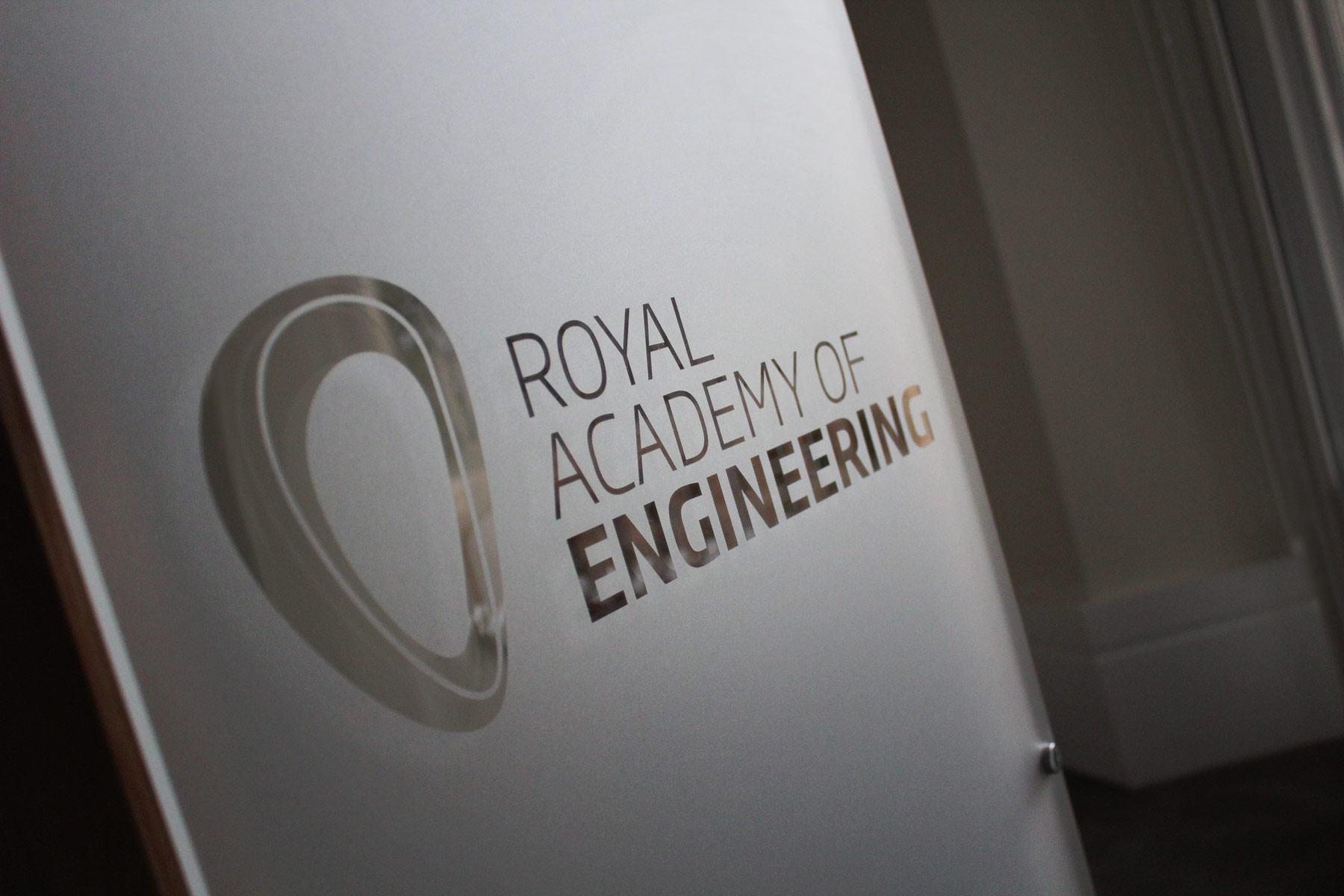 The mark has been applied to the interior of the London headquarters, using a custom die-friendly one colour mark.