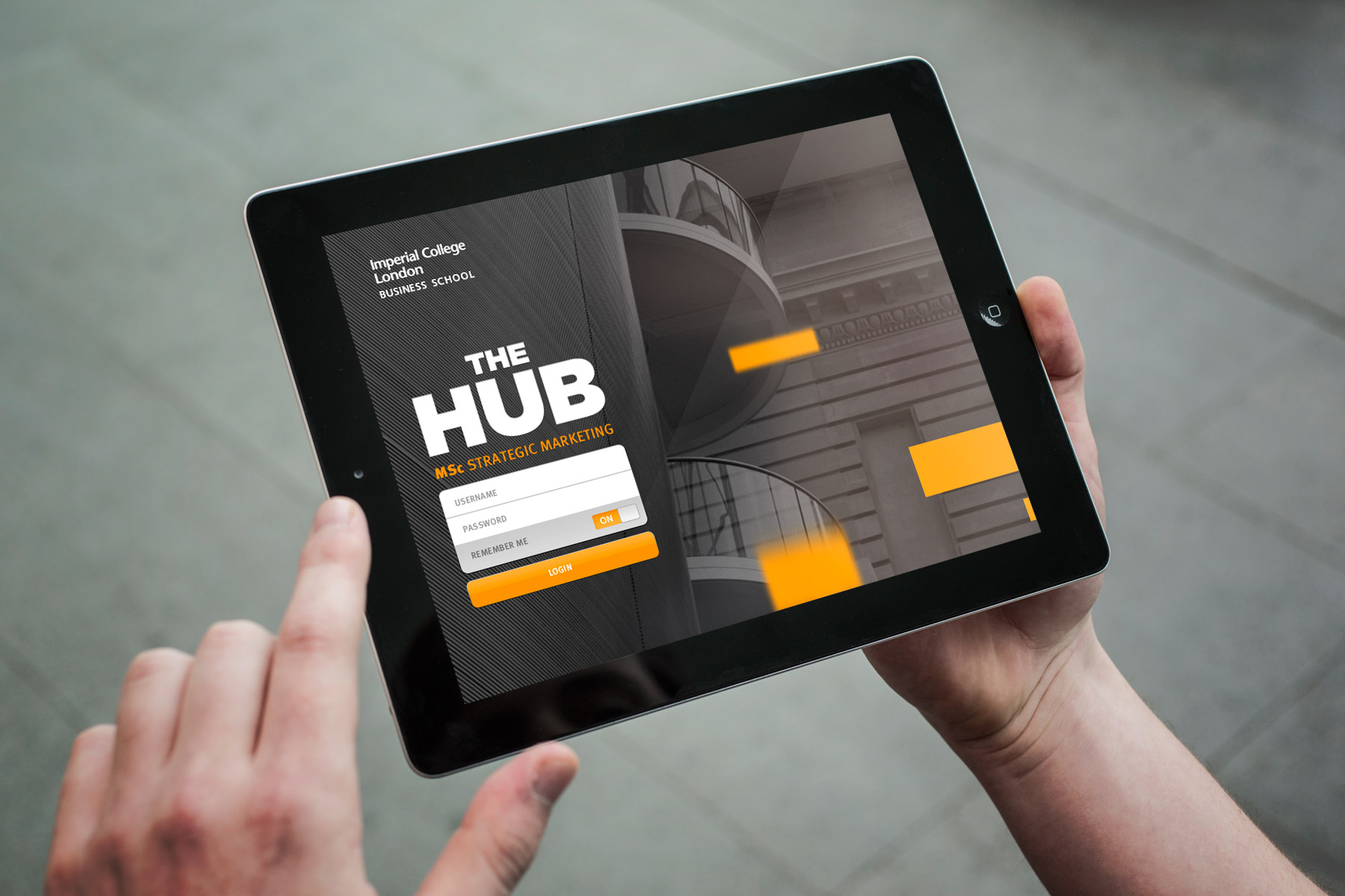The Hub applications core task was to virtualise all programme materials. These would be traditionally distributed to all students in paper format, and would quickly become irrelevant.