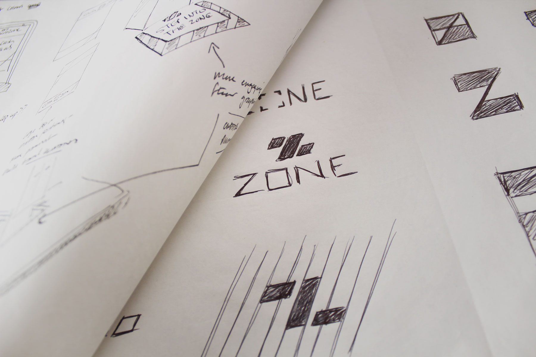 The patterning of the key idea enabled us to harness the geometry to form a Z icon.