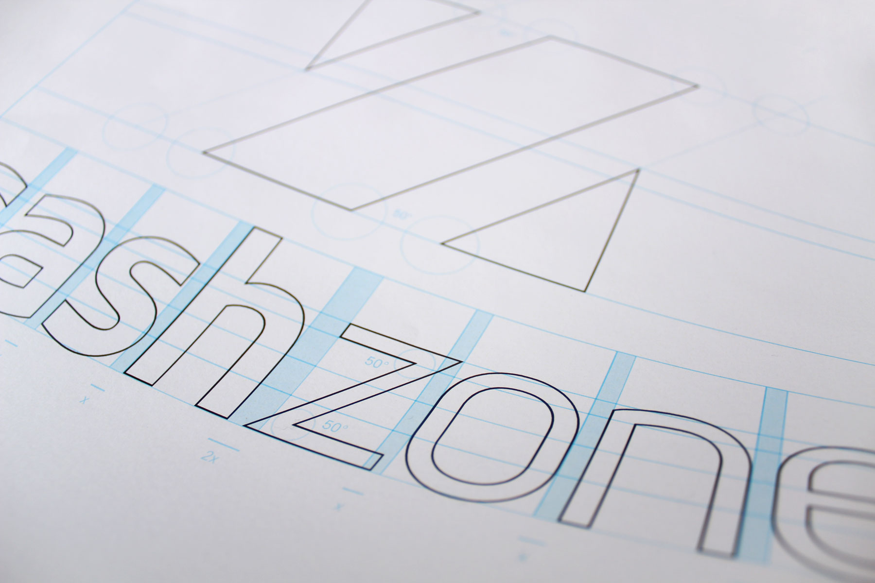 We chose and crafted a hand cut sans serif.