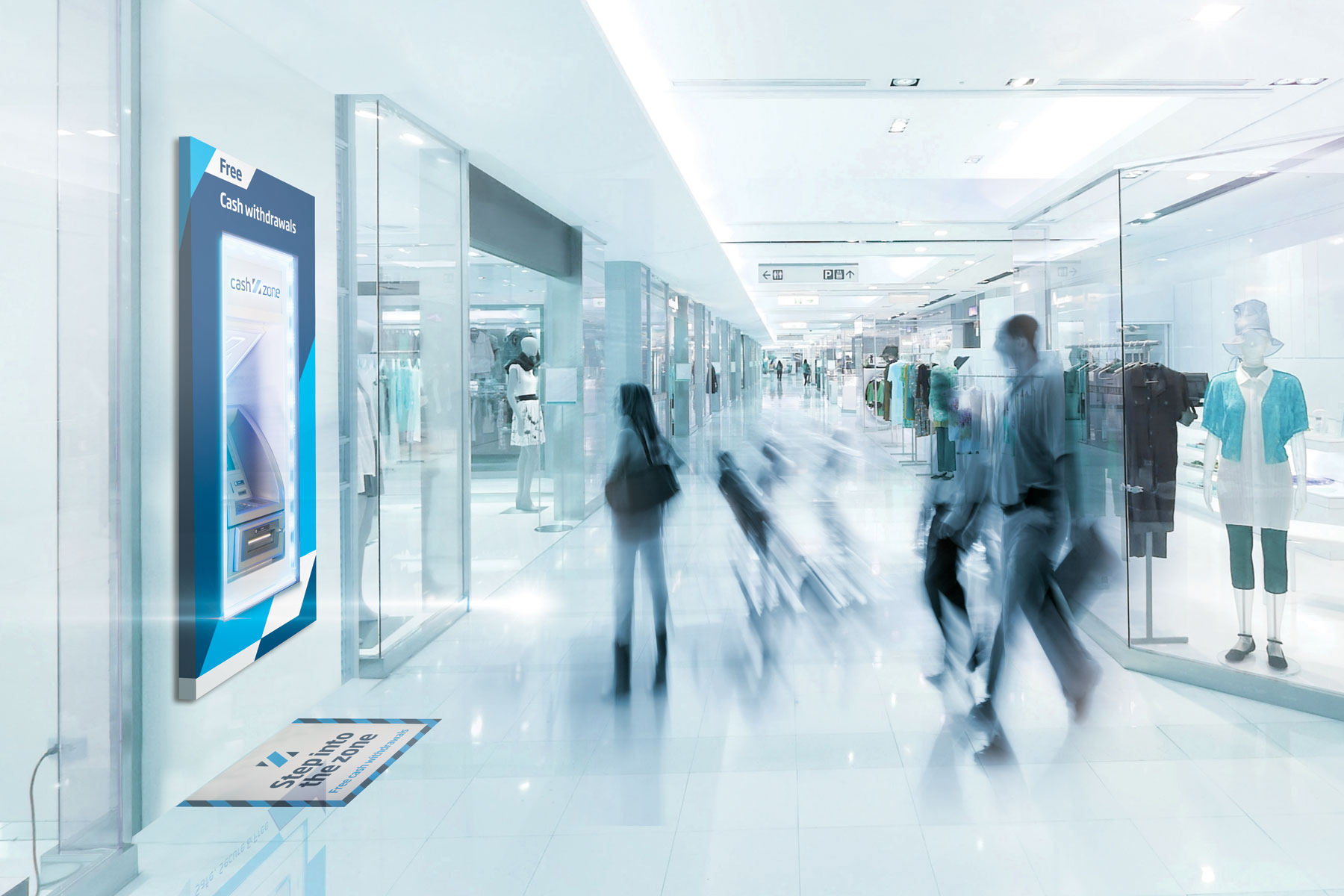 We worked with manufacturers to create brand assets designed to increase footfall. LED lighting and localised vinyls became the first development.