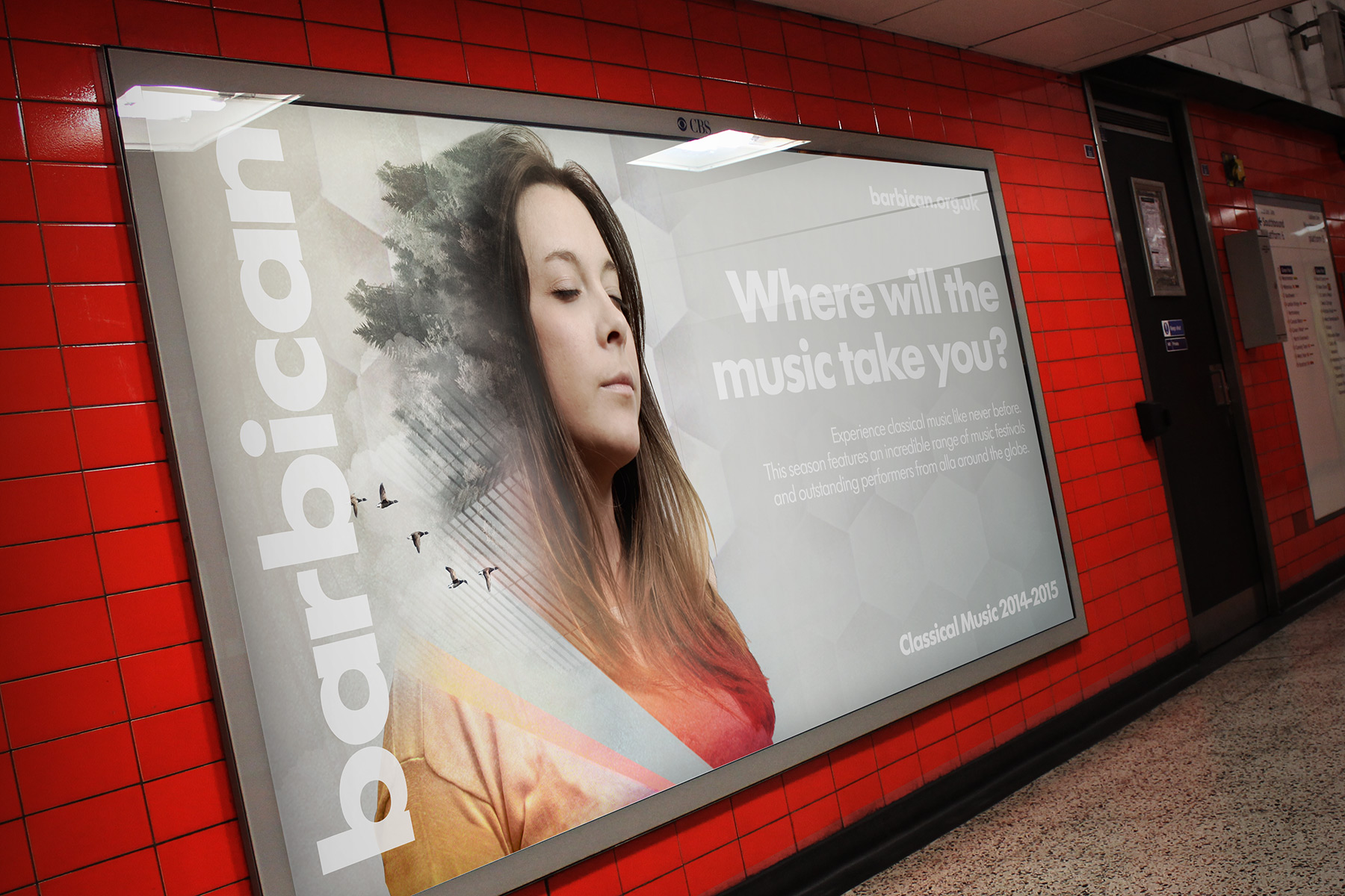 The campaign ran as a number of landscape and portrait formats. The typography has been deliberately softened to give the image asset pride of place.
