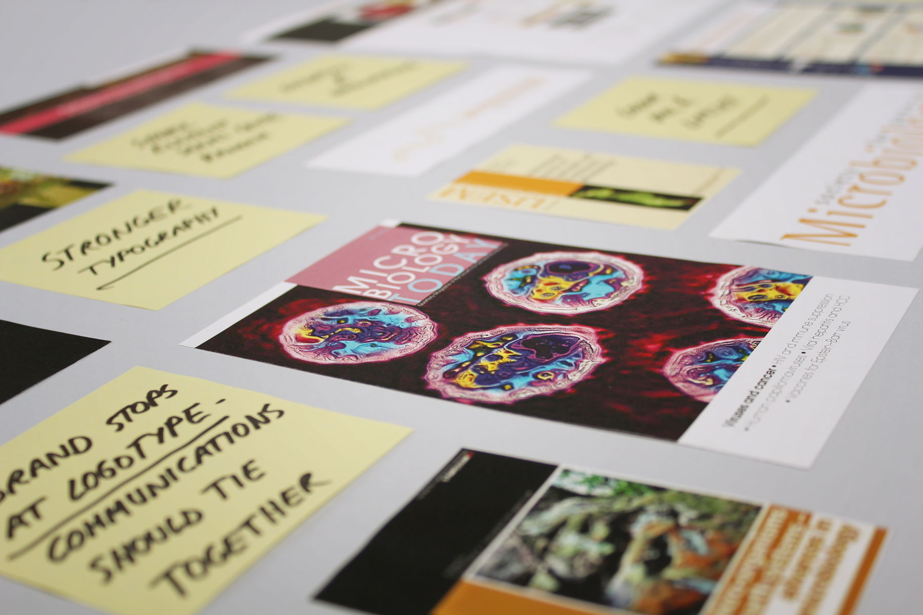 Early stages of the project were centred on identifying issues within the brand.