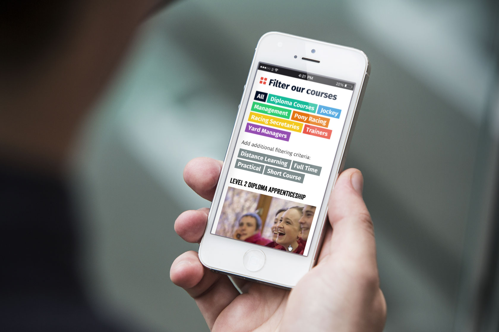 Regardless of the page content, the mobile site is quick and easy to use.