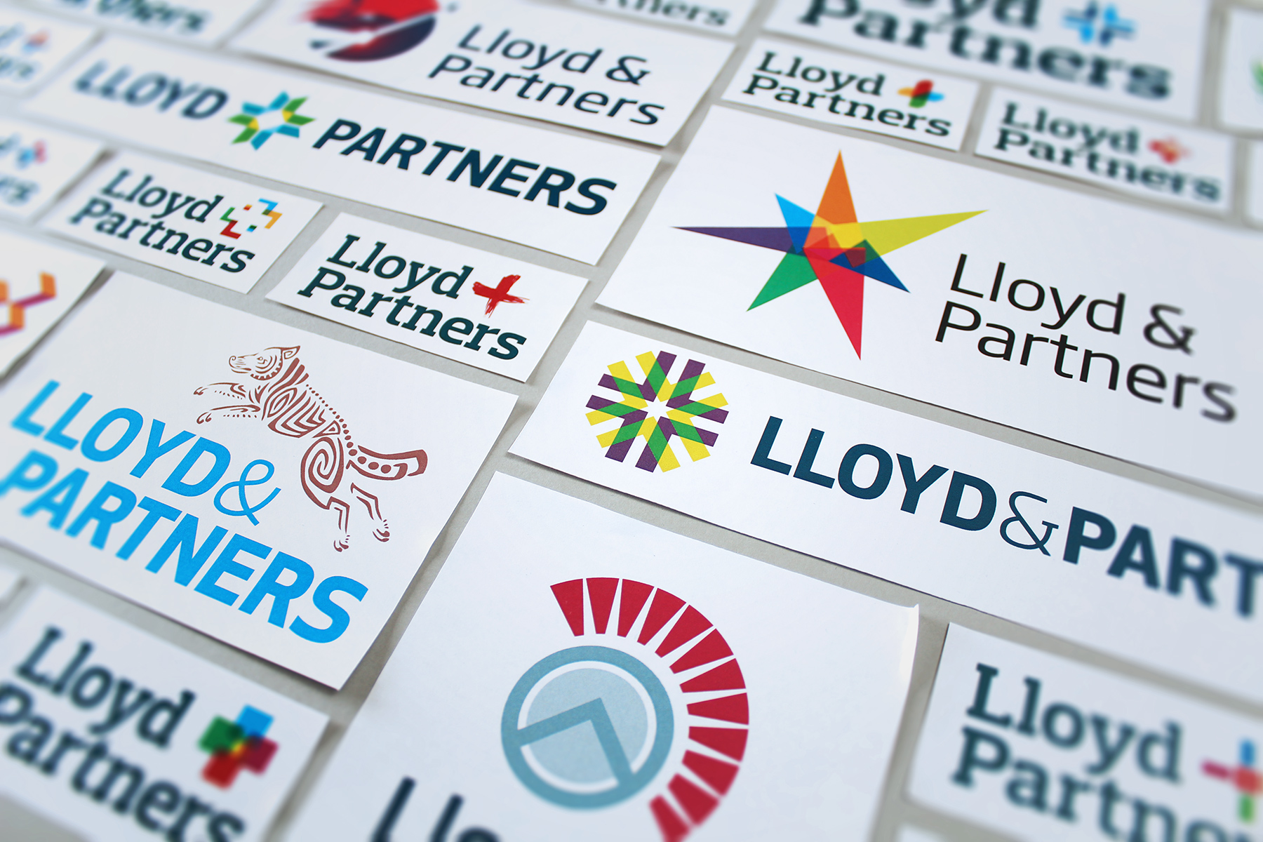 A variety of logo concepts were developed, each taking influence from the brand's strategic proposition message of 'Collaboration through positive aggression'