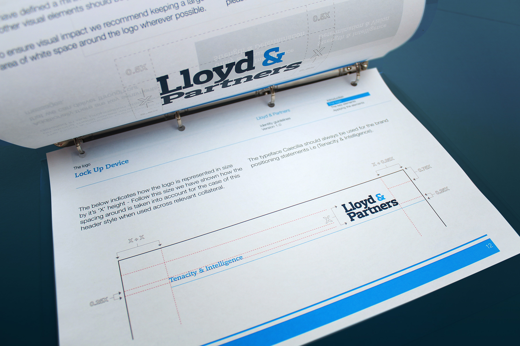 In order to keep control of the brand identity and make sure all applications are consistent, a detailed brand guidelines was produced for all Lloyd & Partners staff, as well as external agencies.