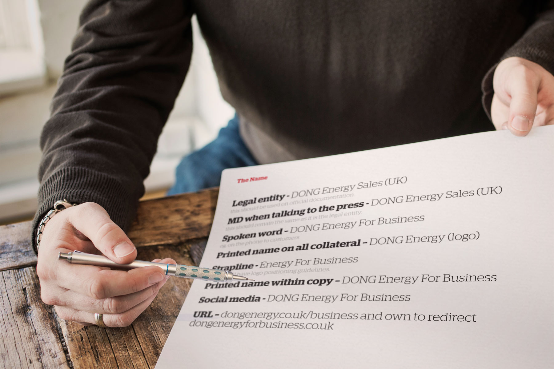 Re-positioning the brand as 'DONG Energy for Business' adds gravitas to the company. Previously known as DONG Energy Sales, an incredibly competitive marketplace called for a more SEO-friendly name.