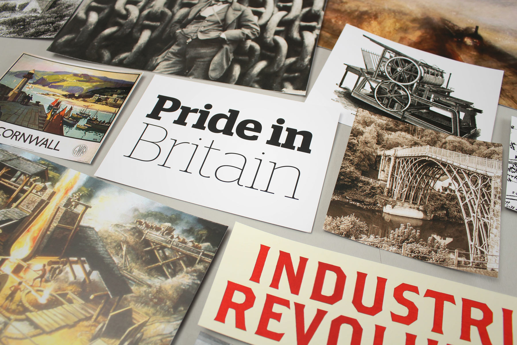 Since the Olympics in 2012, a sense of national pride has thankfully been restored. Our research suggested this should be harnessed to communicate the abundance of an untapped resource, married with Britain's engineering heritage. We decided to look back to project into the future.