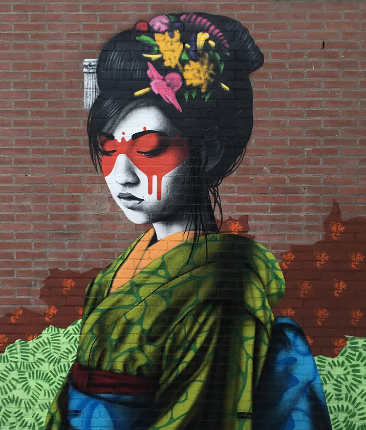 """""""Oralali"""", a new mural by Fin DAC in Breda, Netherlands - Source: Street Art News"""