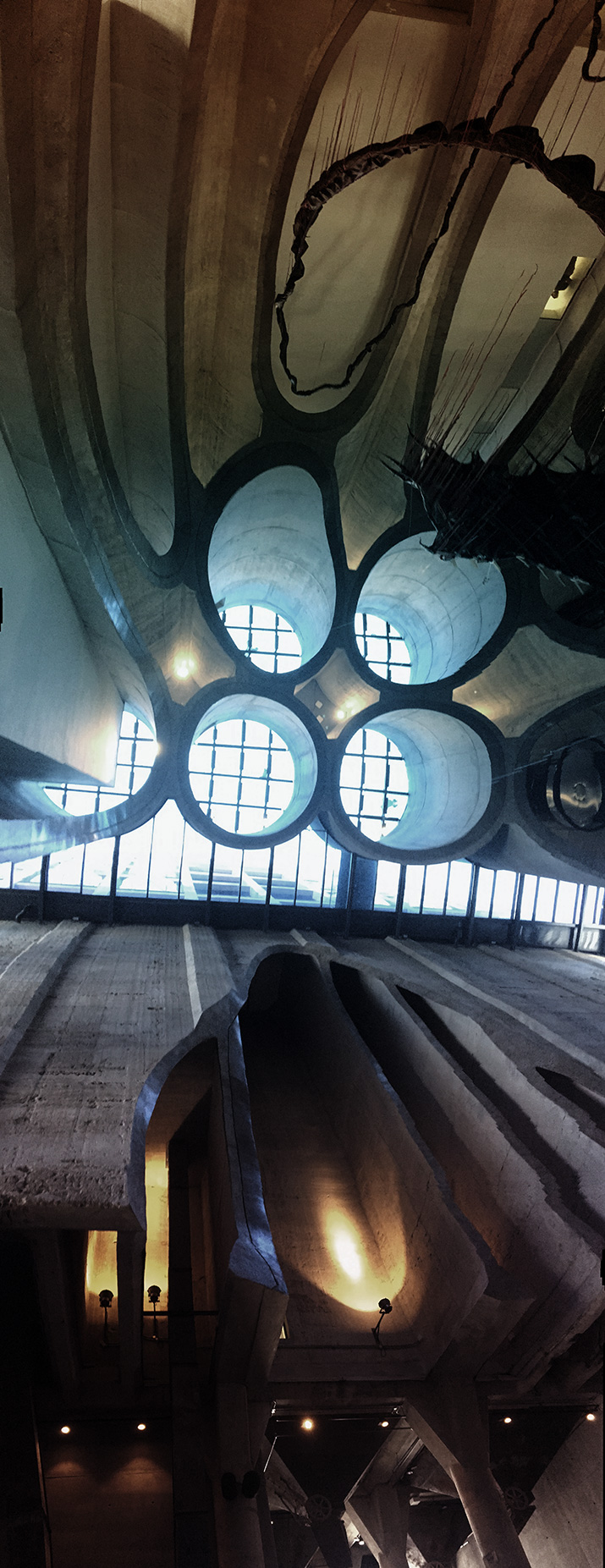 Zeitz Mocaa - The atrium which features the grain silo tubes