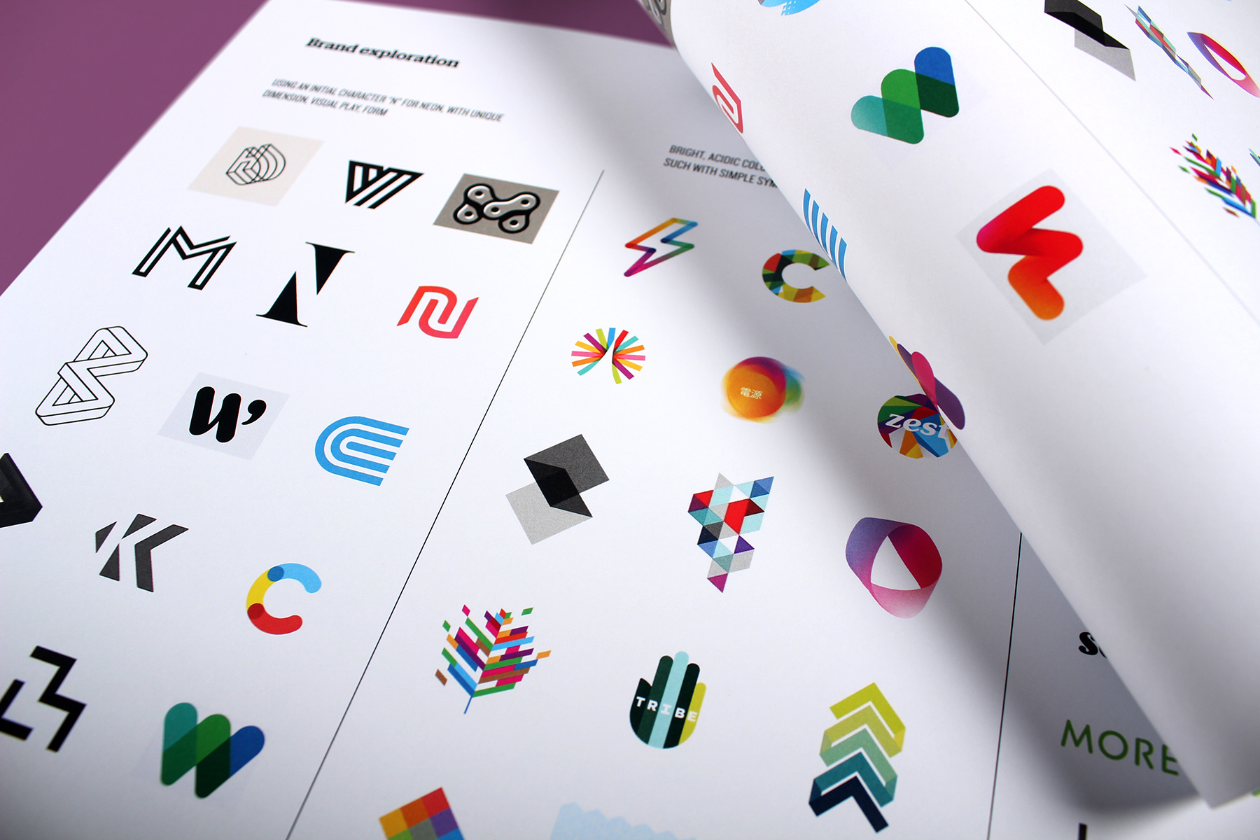 Our brand mood boards focused on usages of iconic, simplistic, bold and colourful symbols. Standout was our key objective.