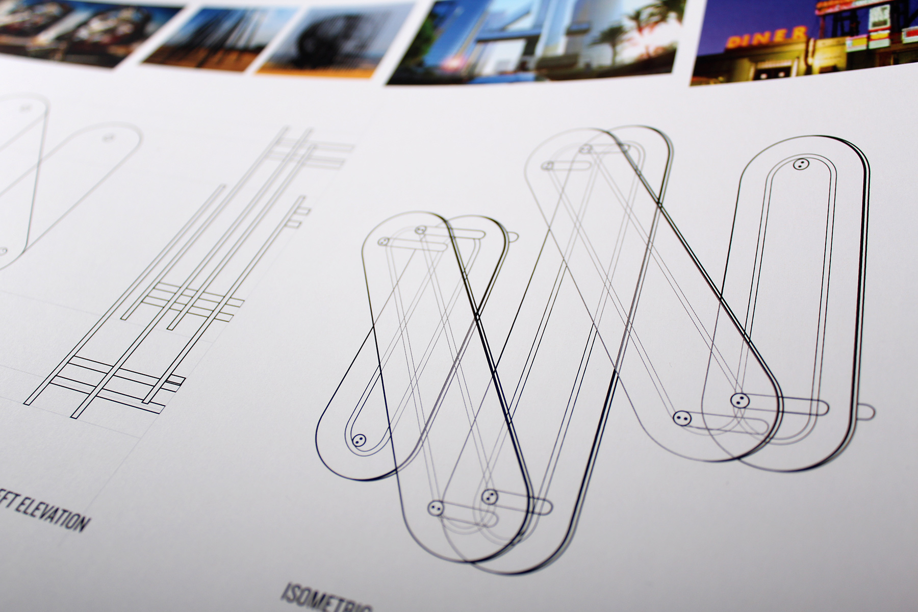 We created the symbol in three dimensions, for usage in signage and wayfinding. In this way, we could replicate the transparency in the static mark utilising overlapping planes.
