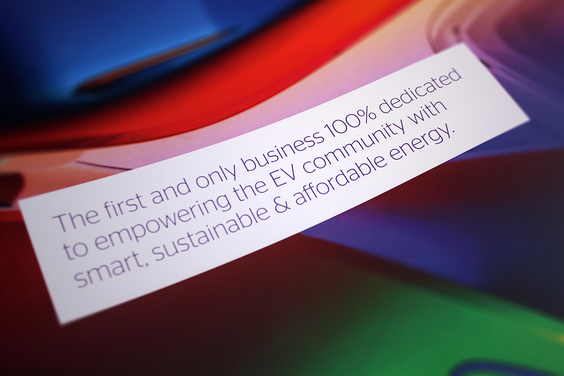 We created an automotive brand positioning which encaptured the spirit of renewable energy branding.