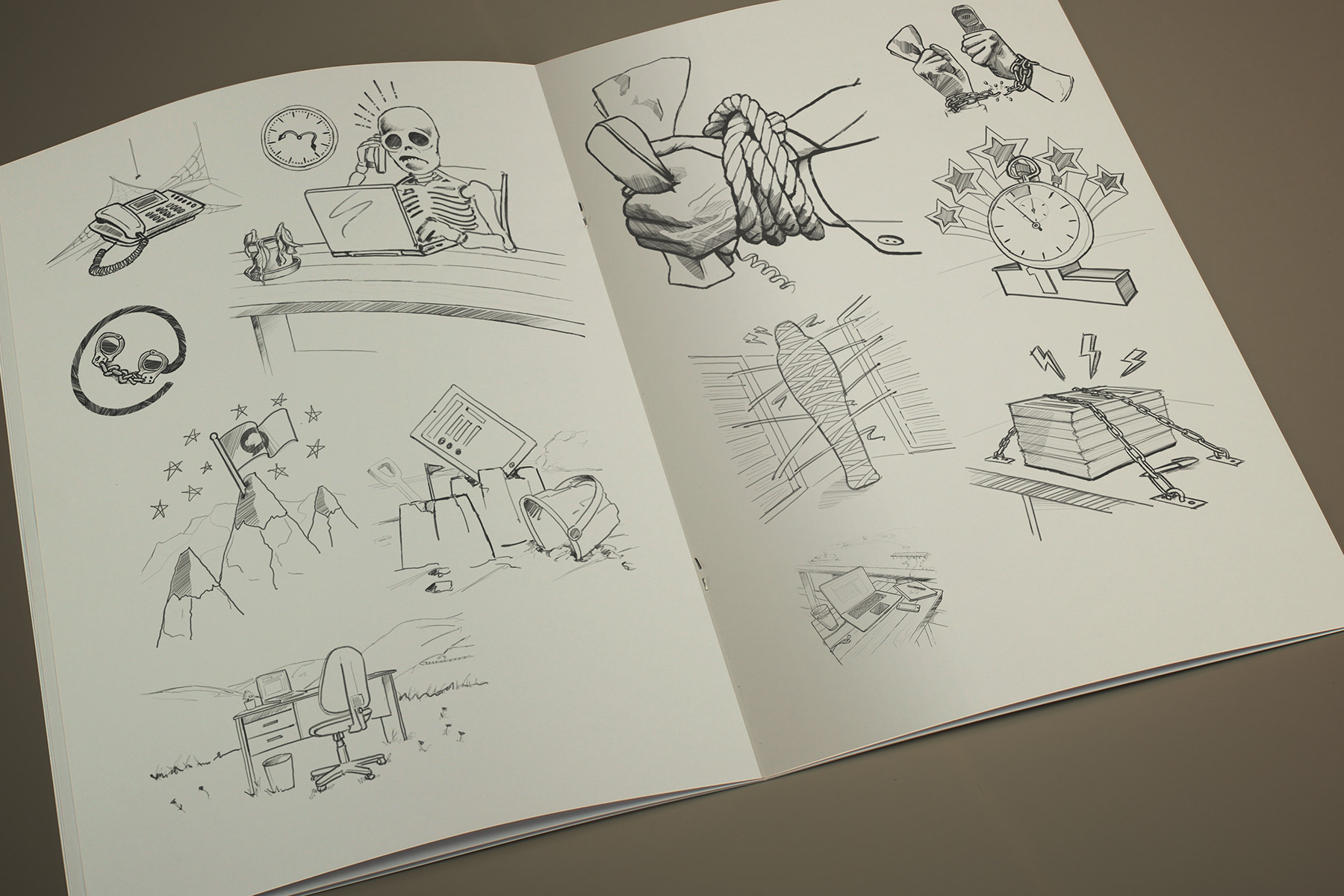 Firedog presented a number of hand drawn conceptual sketches before focusing on the three strongest concepts. We find this creative process incredibly efficient, whilst providing the client the benefit of choice.