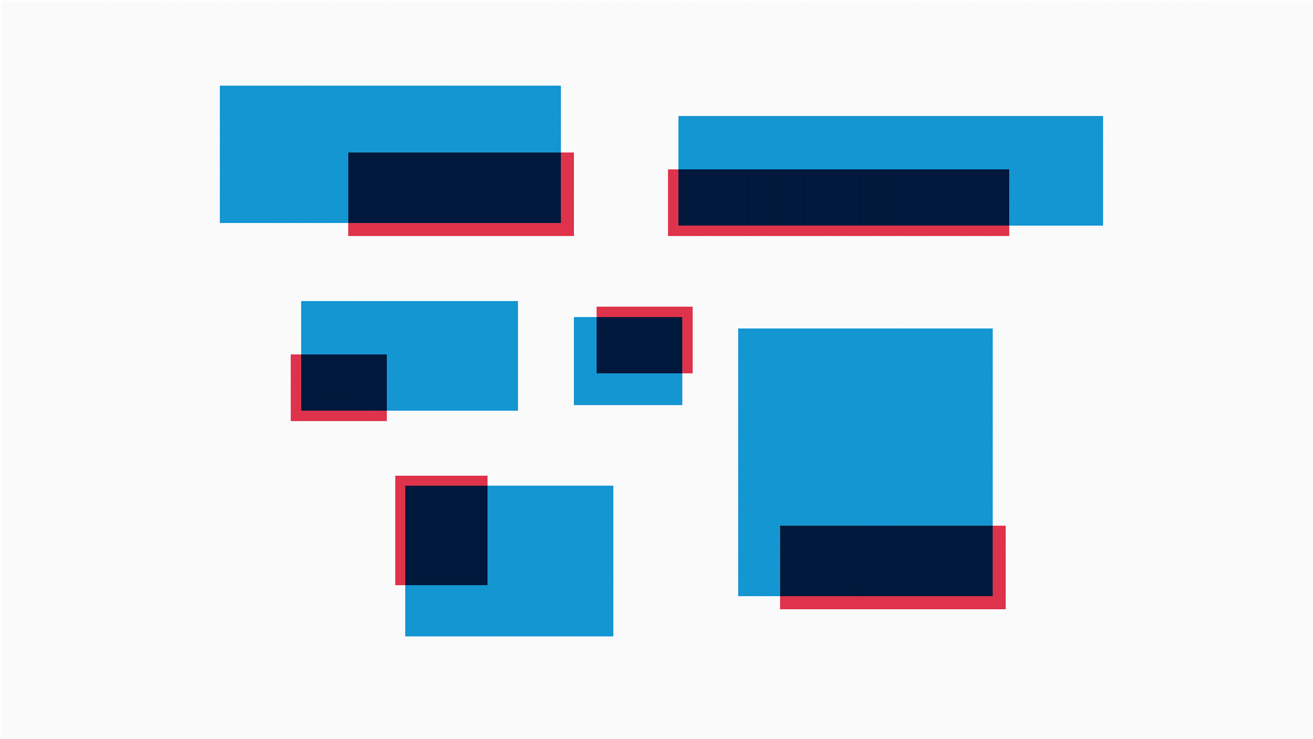 The colour palette is based on a palette which pays homage to blending modes (multiply in particular) and old 3D Analglyhs.