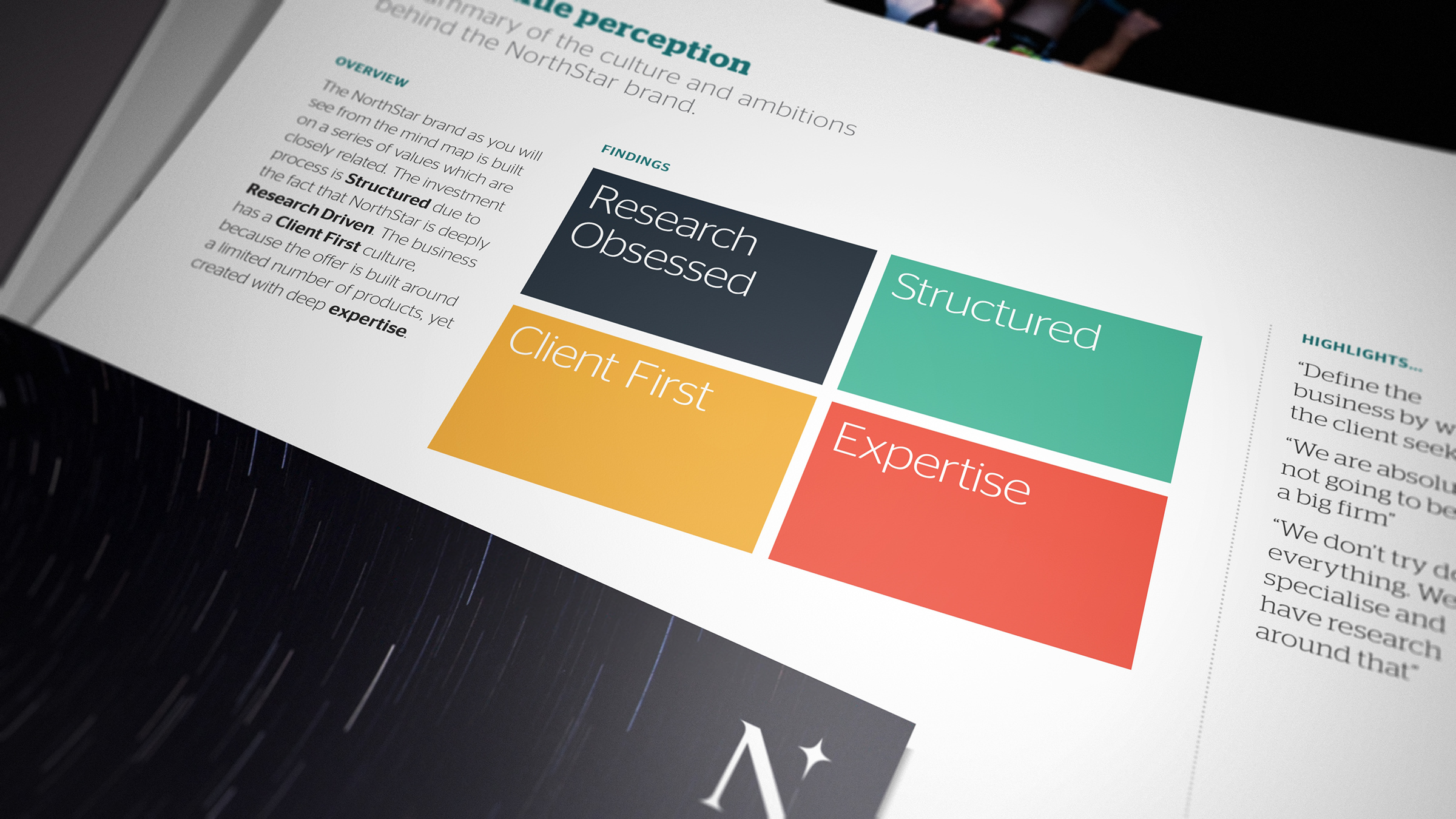 We compressed all the associated brand characteristics into four core pillars of reason.
